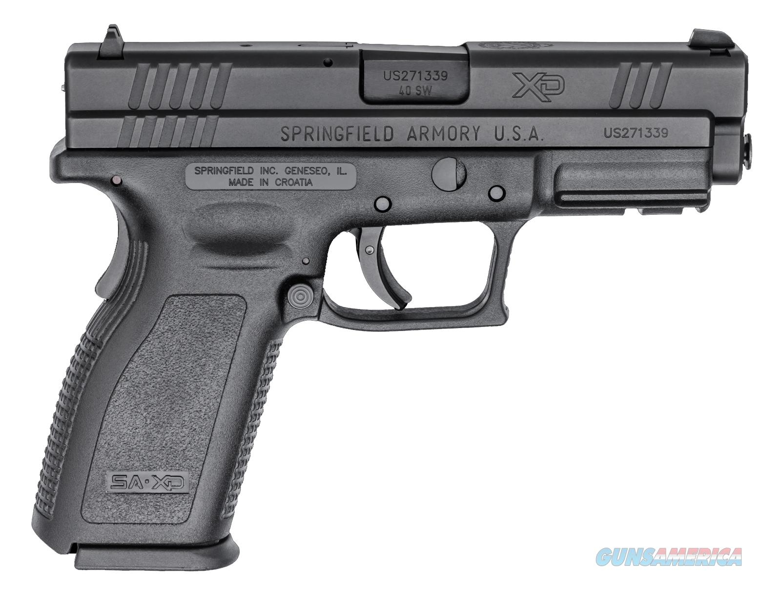 "Springfield XD40, Essentials package, 4"" Barrel, .40SW, 12 round  Guns > Pistols > Springfield Armory Pistols > XD (eXtreme Duty)"