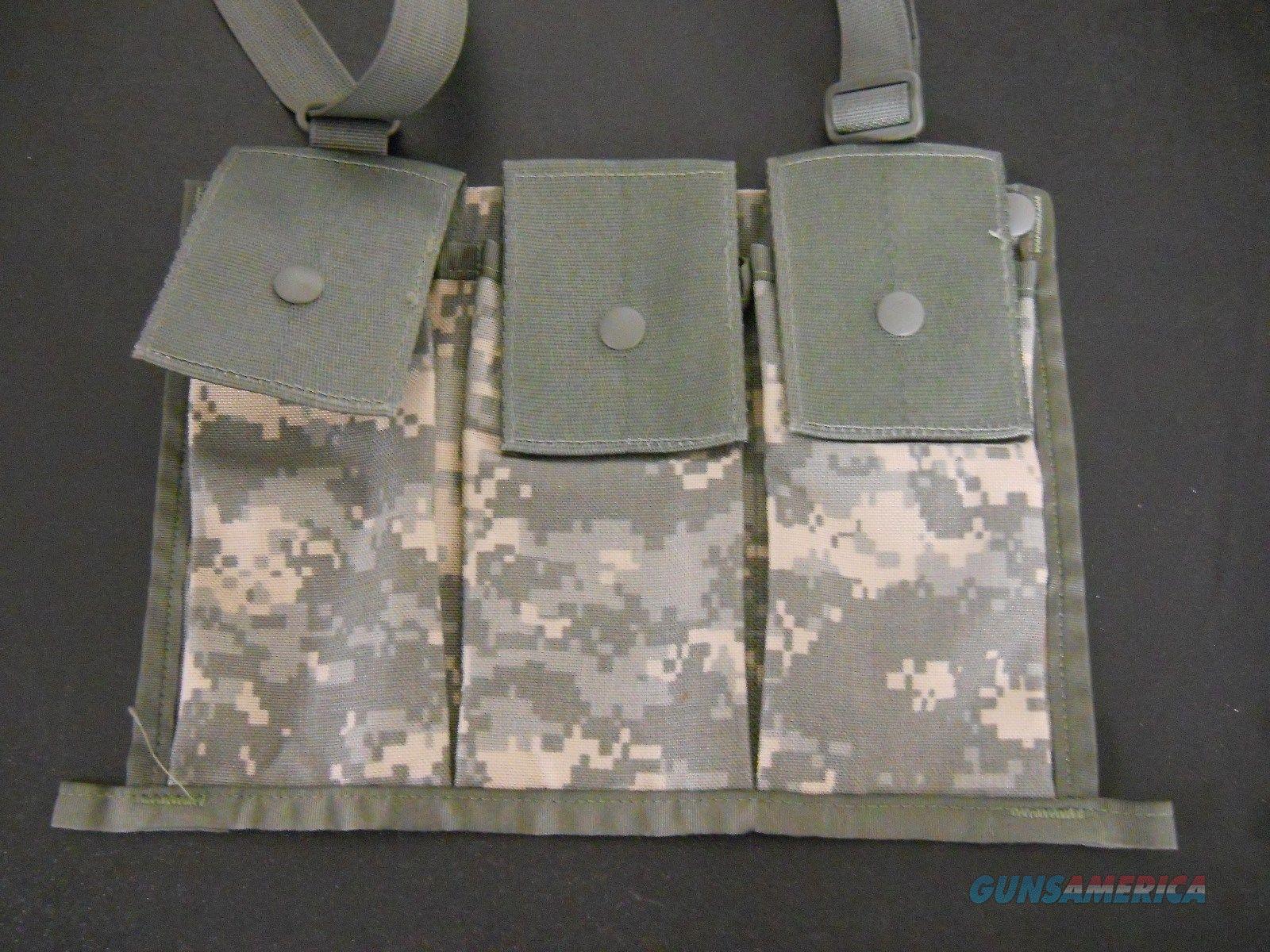 6 Each ACU DIGITAL MOLLE II BANDOLEER AMMUNITION POUCHES, 6 MAGAZINE, NEW w/Strap  Non-Guns > Magazines & Clips > Rifle Magazines > AR-15 Type