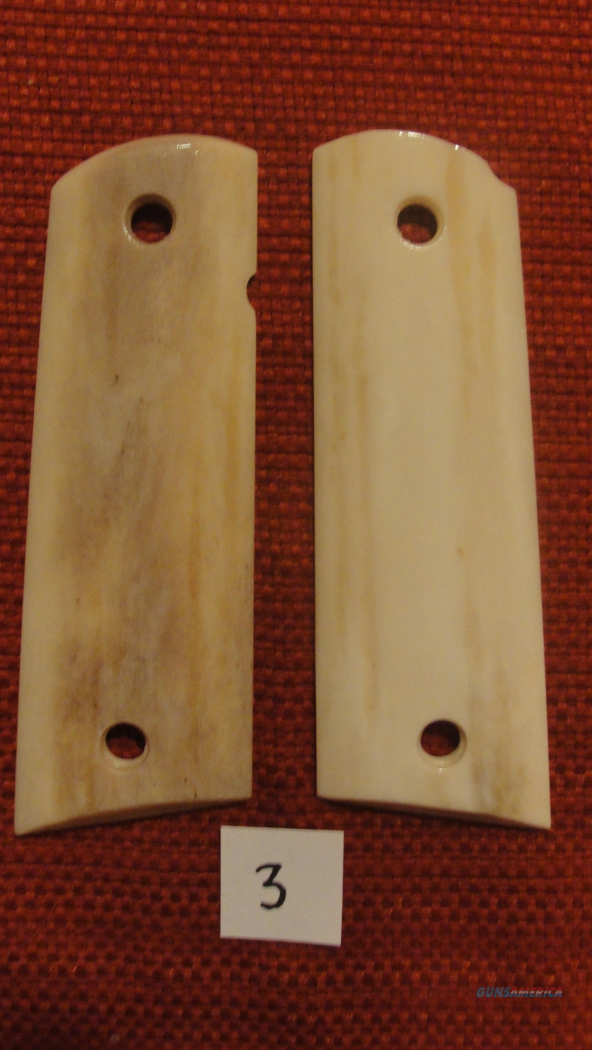 NEW PAIR of REAL ELK HORN / STAG GRIPS for Full-Size 1911's.  Non-Guns > Gun Parts > Grips > 1911