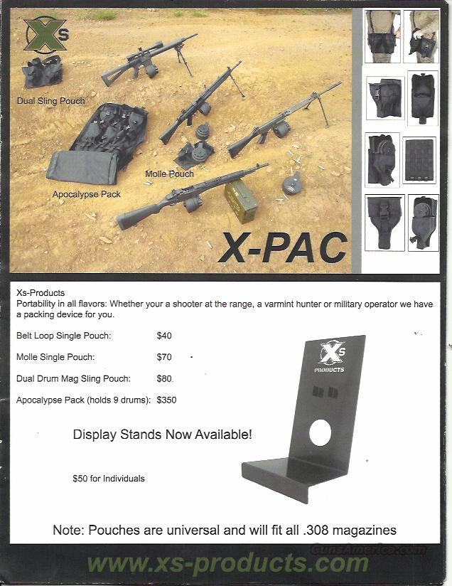SUPER RARE XS PRODUCTS, X-PRODUCTS DISPLAY STAND FOR 50 RD COIL DRUMS  Non-Guns > Magazines & Clips > Rifle Magazines > Other