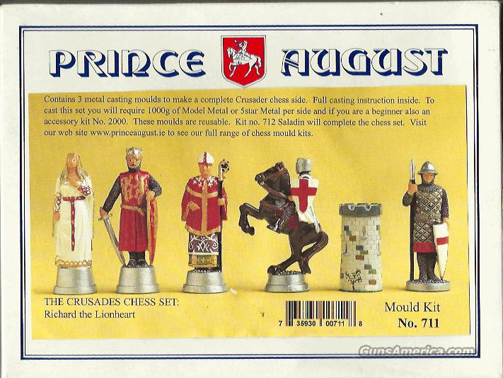 PRINCE AUGUST CRUSADES CHESS CASTING MOULD SET, #711  Non-Guns > Hobbies and Collectibles > Scale Models > Other/Misc