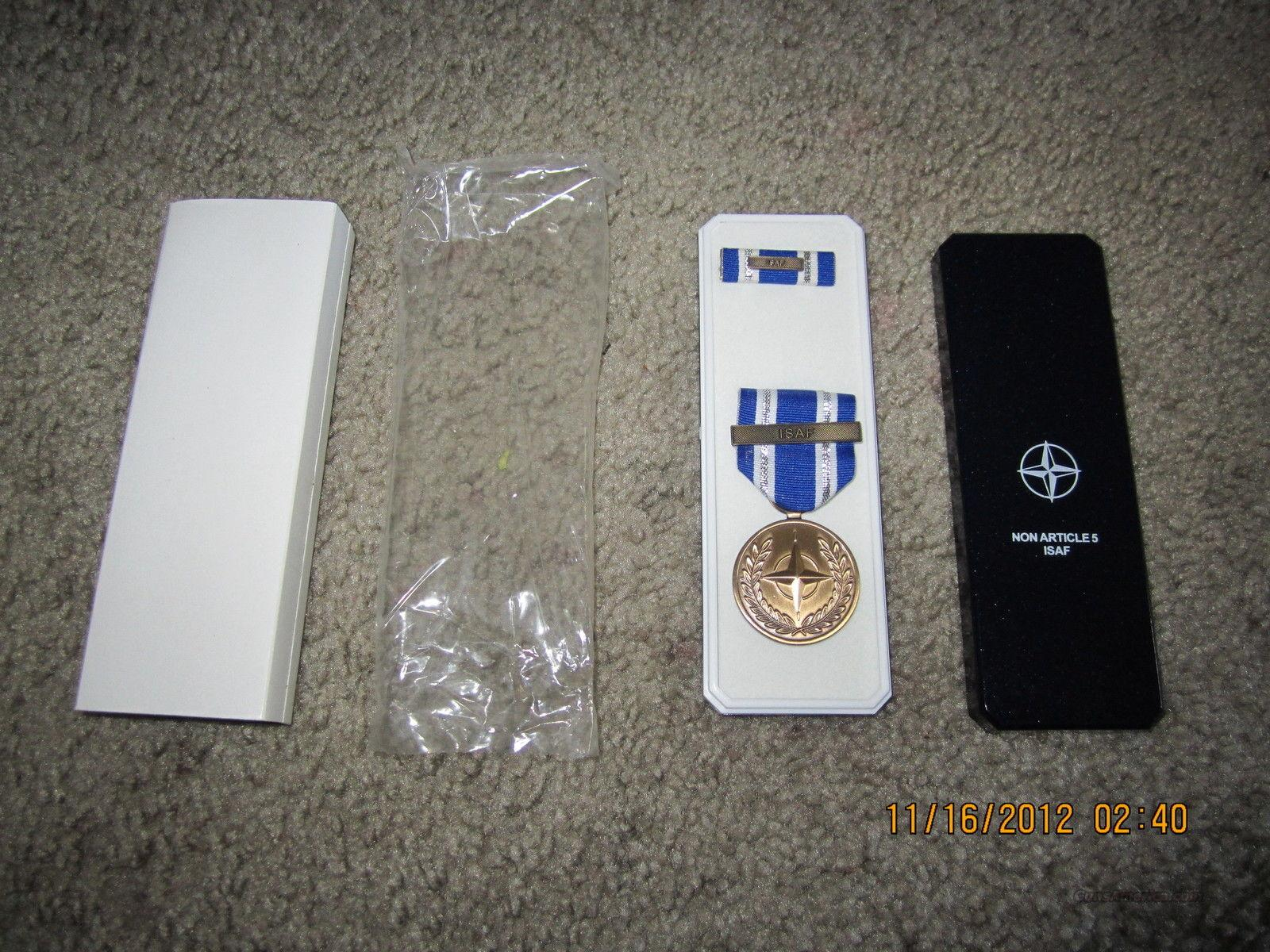 NATO ISAF MEDAL SET with CASE  Non-Guns > Military > Badges