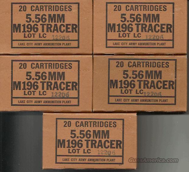 200 ROUNDS LAKE CITY 5.56 (.223) TRACERS, 10 Boxes  Non-Guns > Ammunition