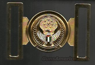 RARE UAE GENERAL OFFICER'S 2-PIECE BELT BUCKLE  Non-Guns > Holsters and Gunleather > Military