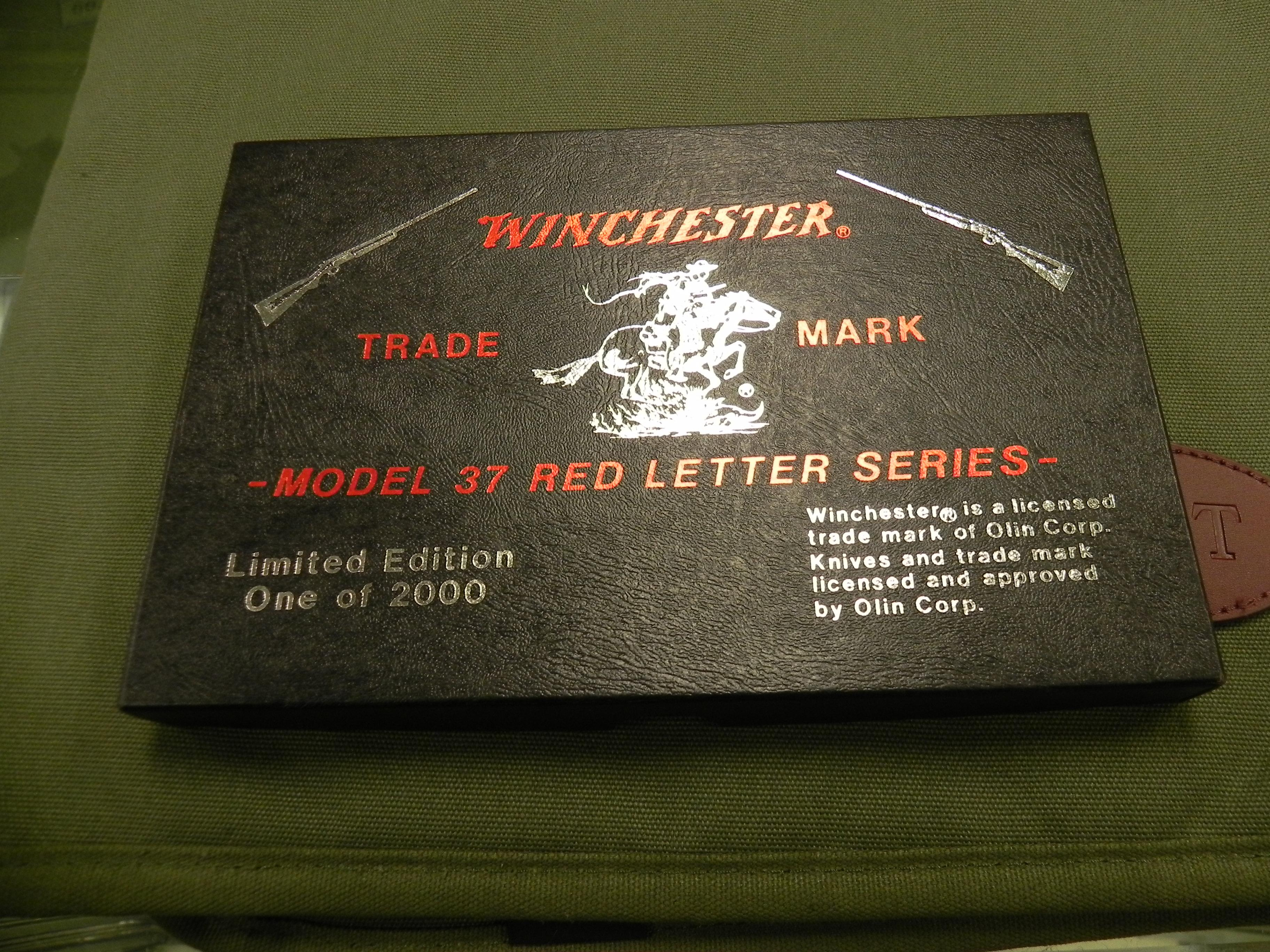 Winchester Knives Model 37 commemorative knife set.  Non-Guns > Knives/Swords > Knives > Folding Blade > Imported