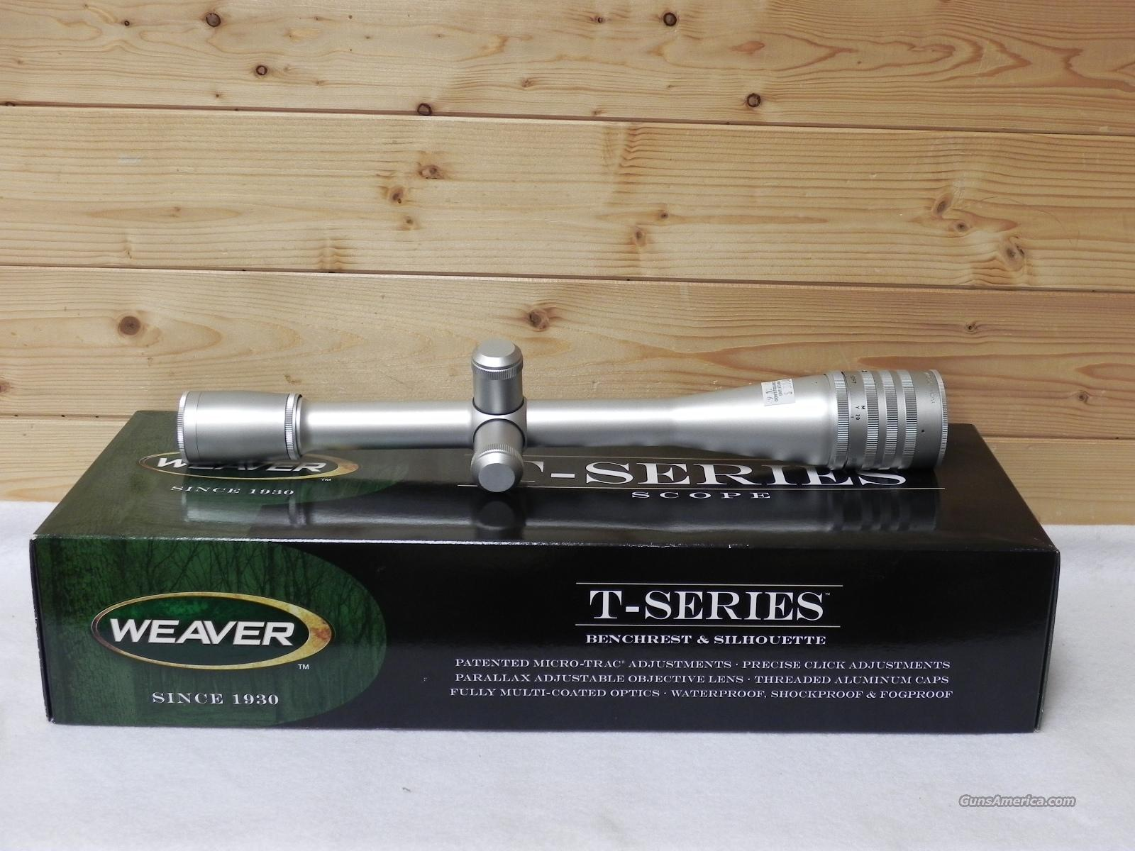 Weaver T series  36X silver  Non-Guns > Scopes/Mounts/Rings & Optics > Rifle Scopes > Fixed Focal Length