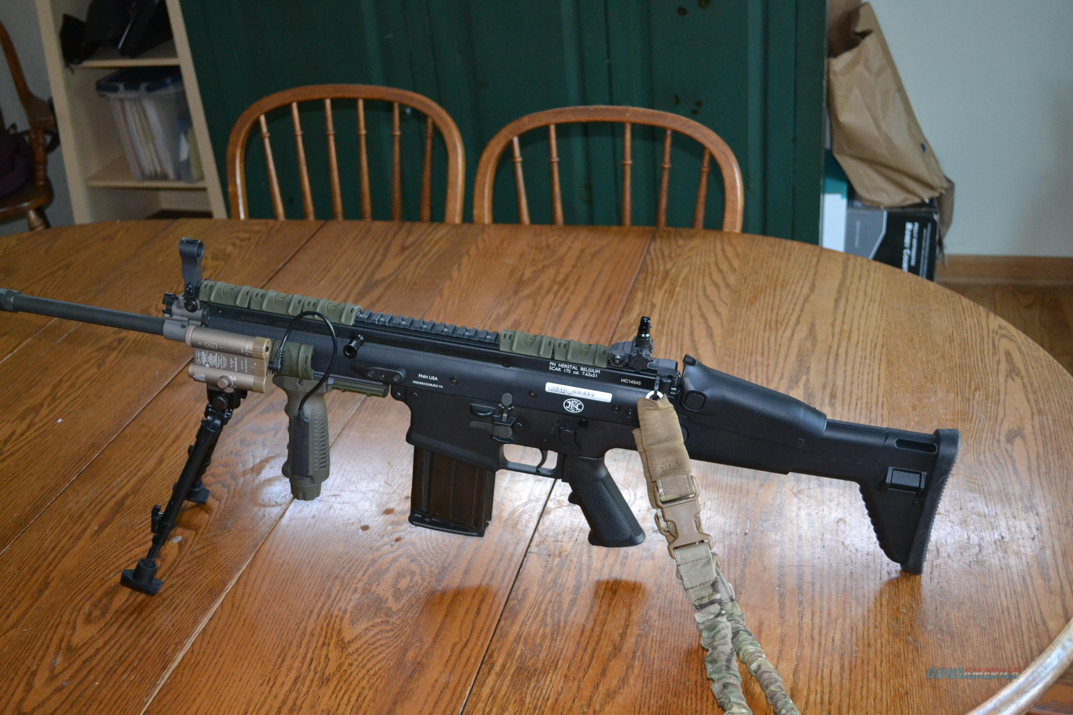SCAR 17s Black, w/ strap, and stream light and LaserLyte  Guns > Rifles > FNH - Fabrique Nationale (FN) Rifles > Semi-auto > SCAR