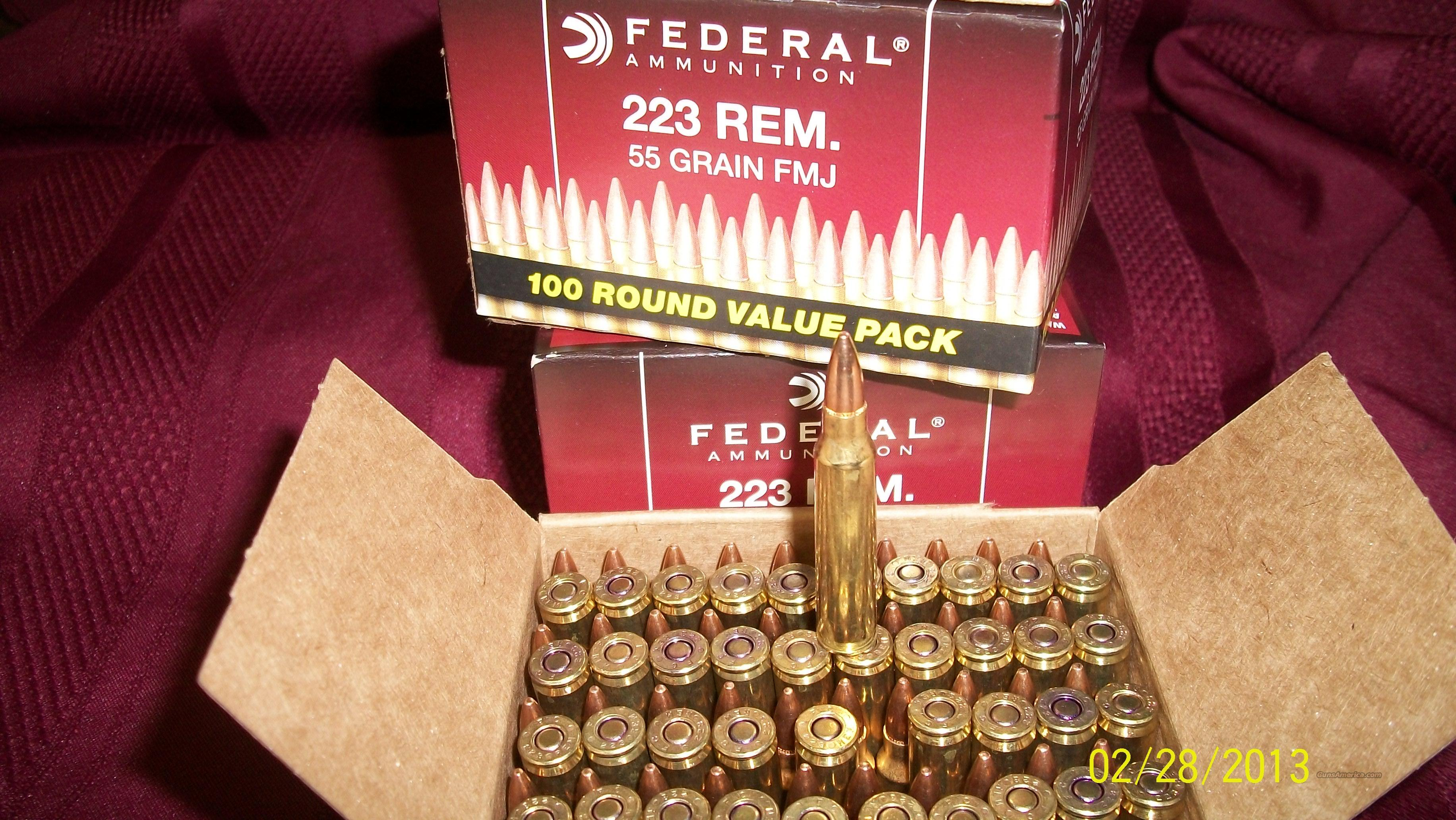 Federal .223 Ammo  Three hundred rounds 5.56 Ammo   Non-Guns > Ammunition