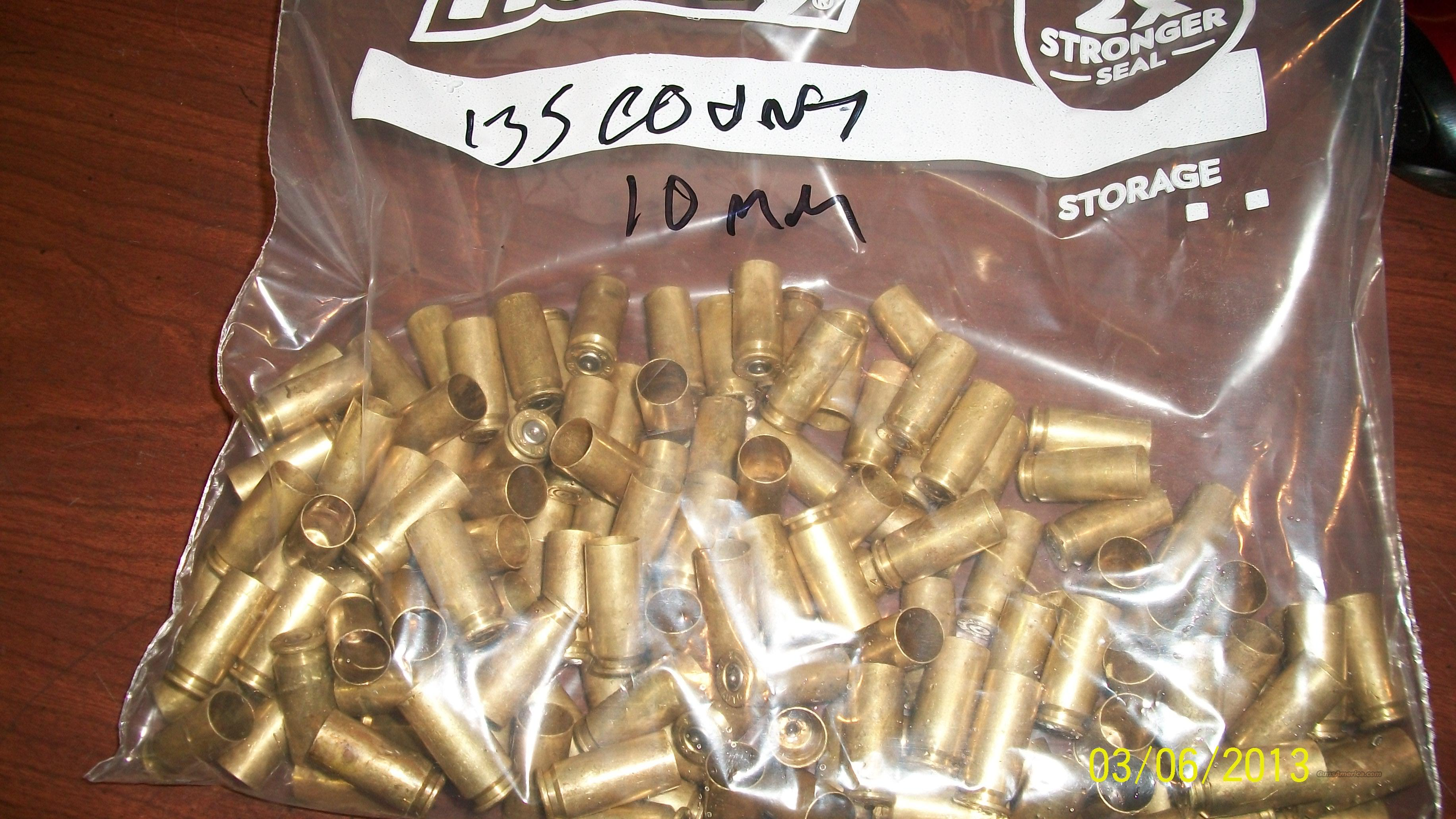 10mm Brass 135 peices once fired  Non-Guns > Reloading > Components > Brass