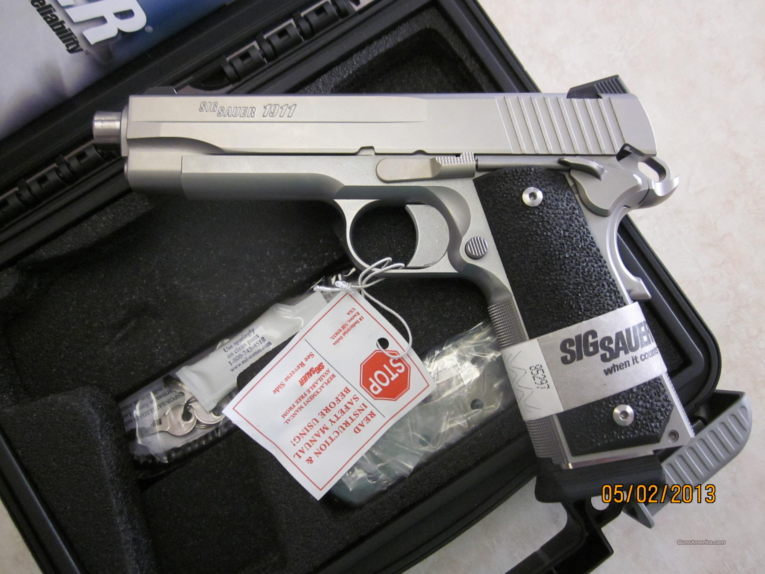 Sig Sauer 1911 XO 45 Stainless 45ACP NIB   Guns > Pistols > Sig - Sauer/Sigarms Pistols > 1911