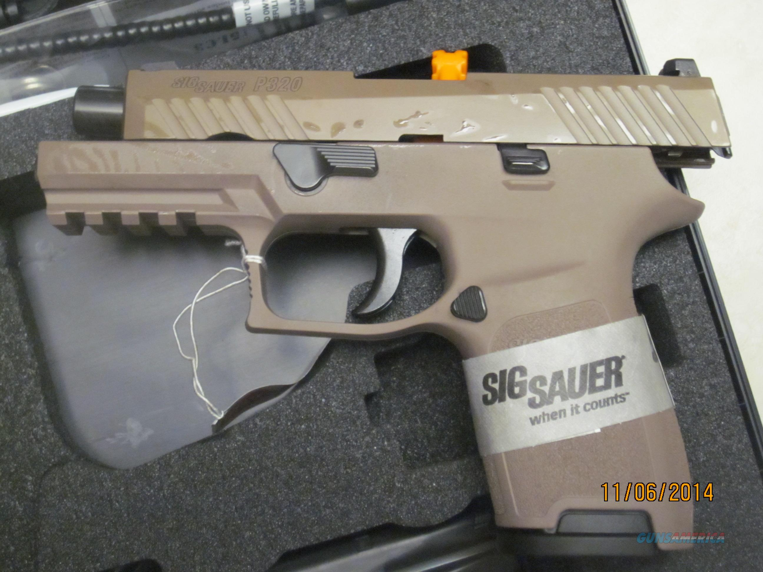 Sig P320 Compact FDE Desert 320C 9mm 15 Round Night Sights 320  Guns > Pistols > Sig - Sauer/Sigarms Pistols > P320