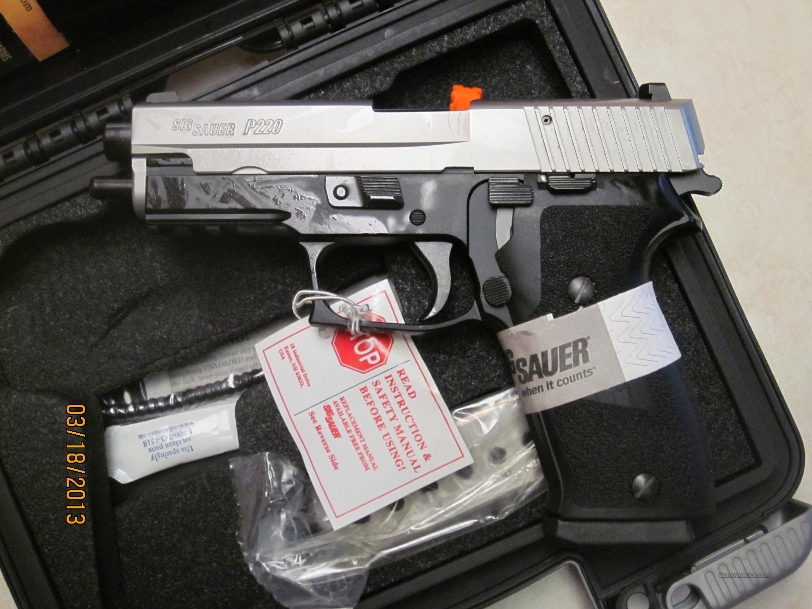 Brand New Sig Sauer P220 Stainless SS 45 ACP N/S 45ACP   Guns > Pistols > Sig - Sauer/Sigarms Pistols > P220