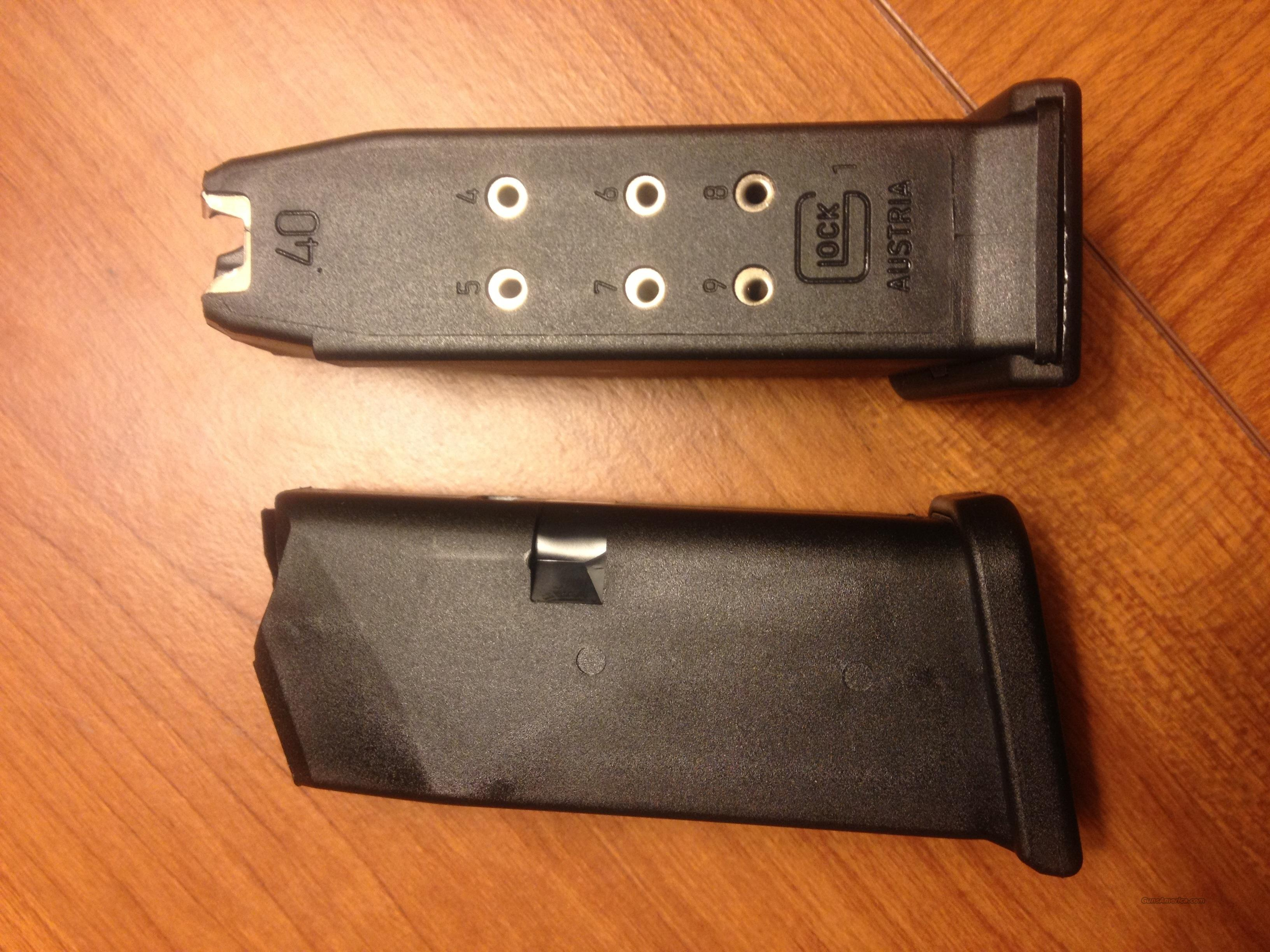 Glock 27 stock 9 round NEW Gen 4 magazine , 2 AVAILABLE, sub compact Gen4 .40 caliber magazines  Non-Guns > Magazines & Clips > Pistol Magazines > Glock