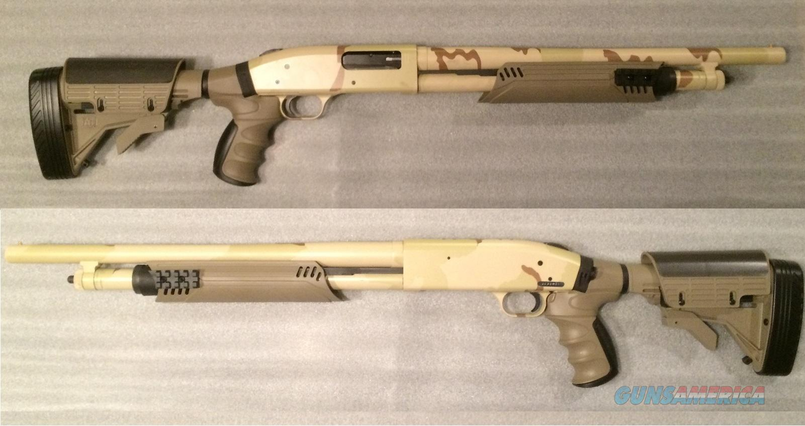 Desert Camo Tactical Shotgun with 2 Picatinny R... for sale
