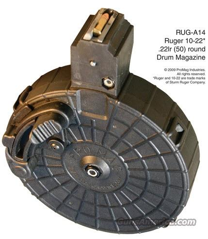 ProMag Ruger 10/22 .22lr (50)Rd Smoke Polymer Drum  Non-Guns > Magazines & Clips > Rifle Magazines > 10/22