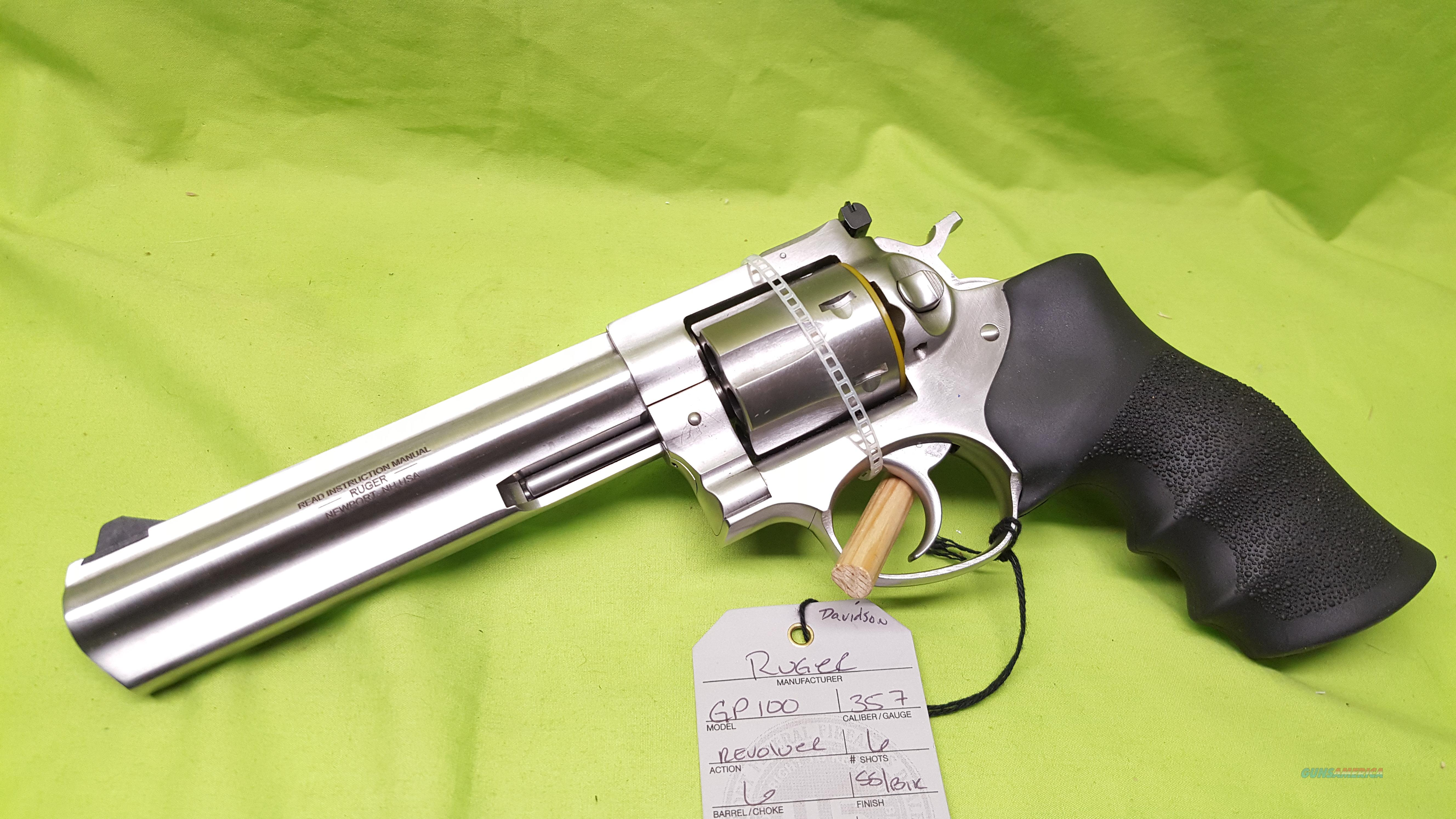 "RUGER GP100 GP 100 357 MAG 6"" REVOLVER STAINLESS  Guns > Pistols > Ruger Double Action Revolver > SP101 Type"