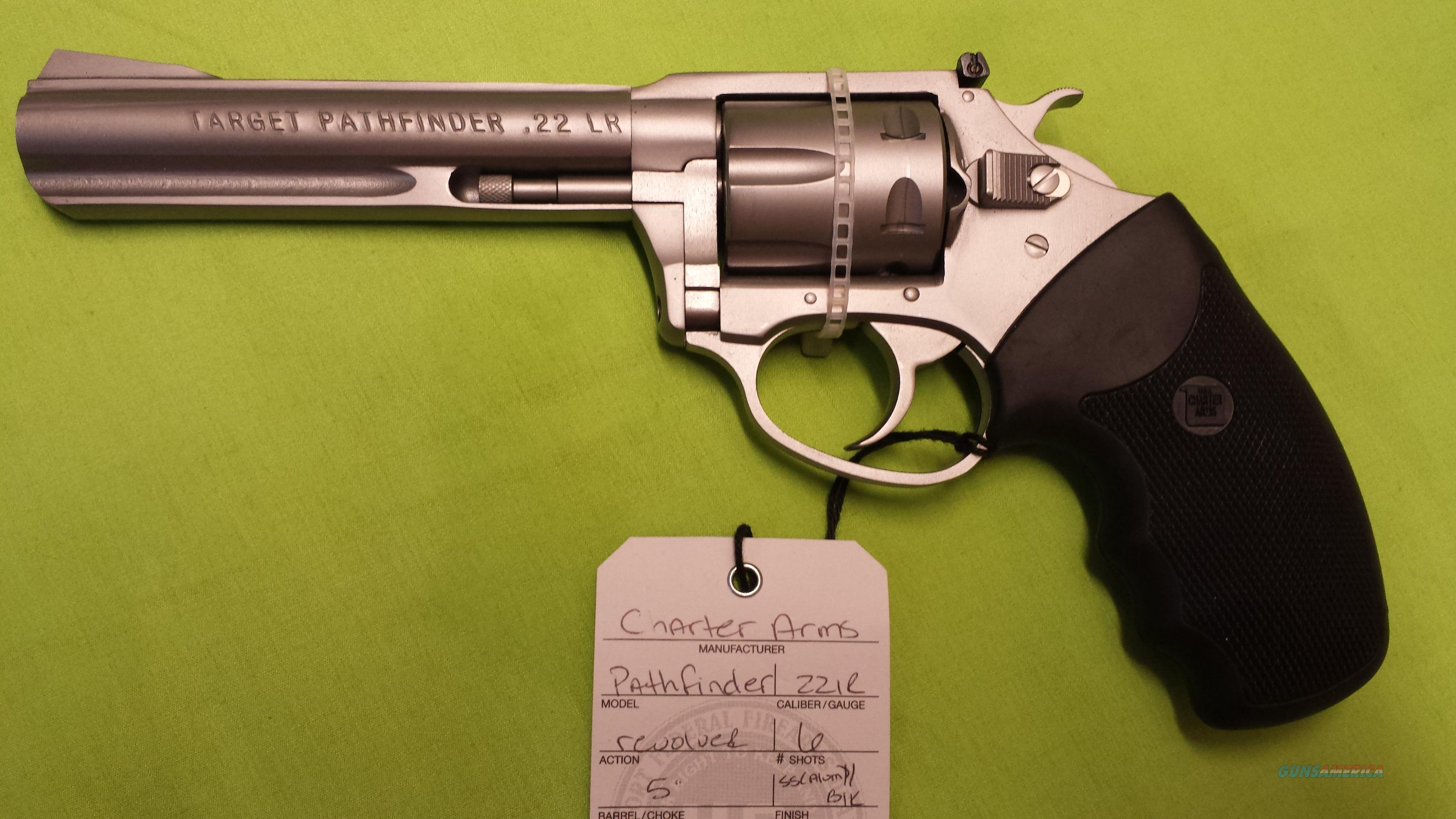 "CHARTER PATHFINDER 22 LR REVOLVER 5"" STAINLESS  Guns > Pistols > Charter Arms Revolvers"