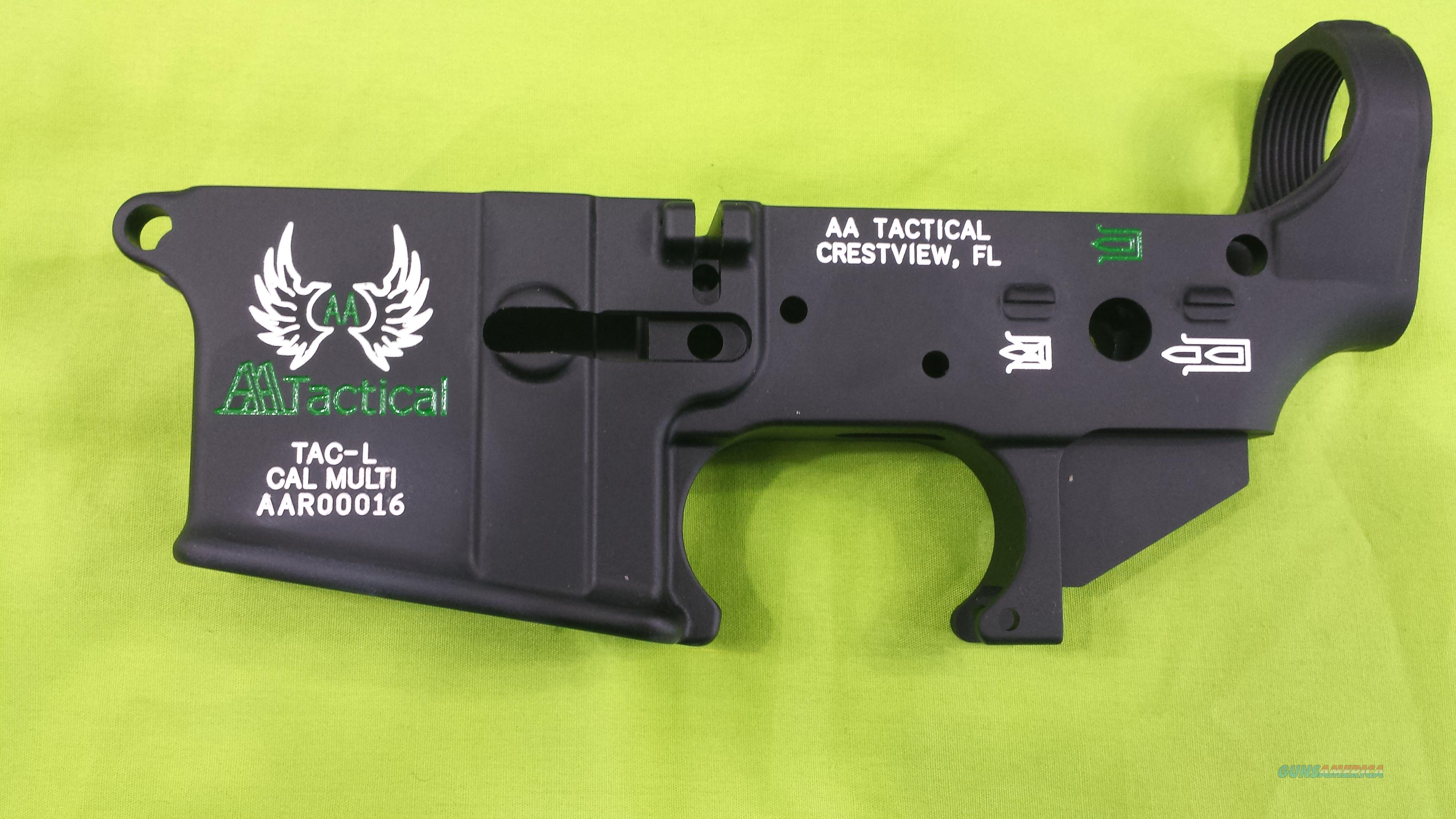 AA TACTICAL STRIPPED LOWER COLOR GREEN AR15 MULTI  Guns > Rifles > AR-15 Rifles - Small Manufacturers > Lower Only