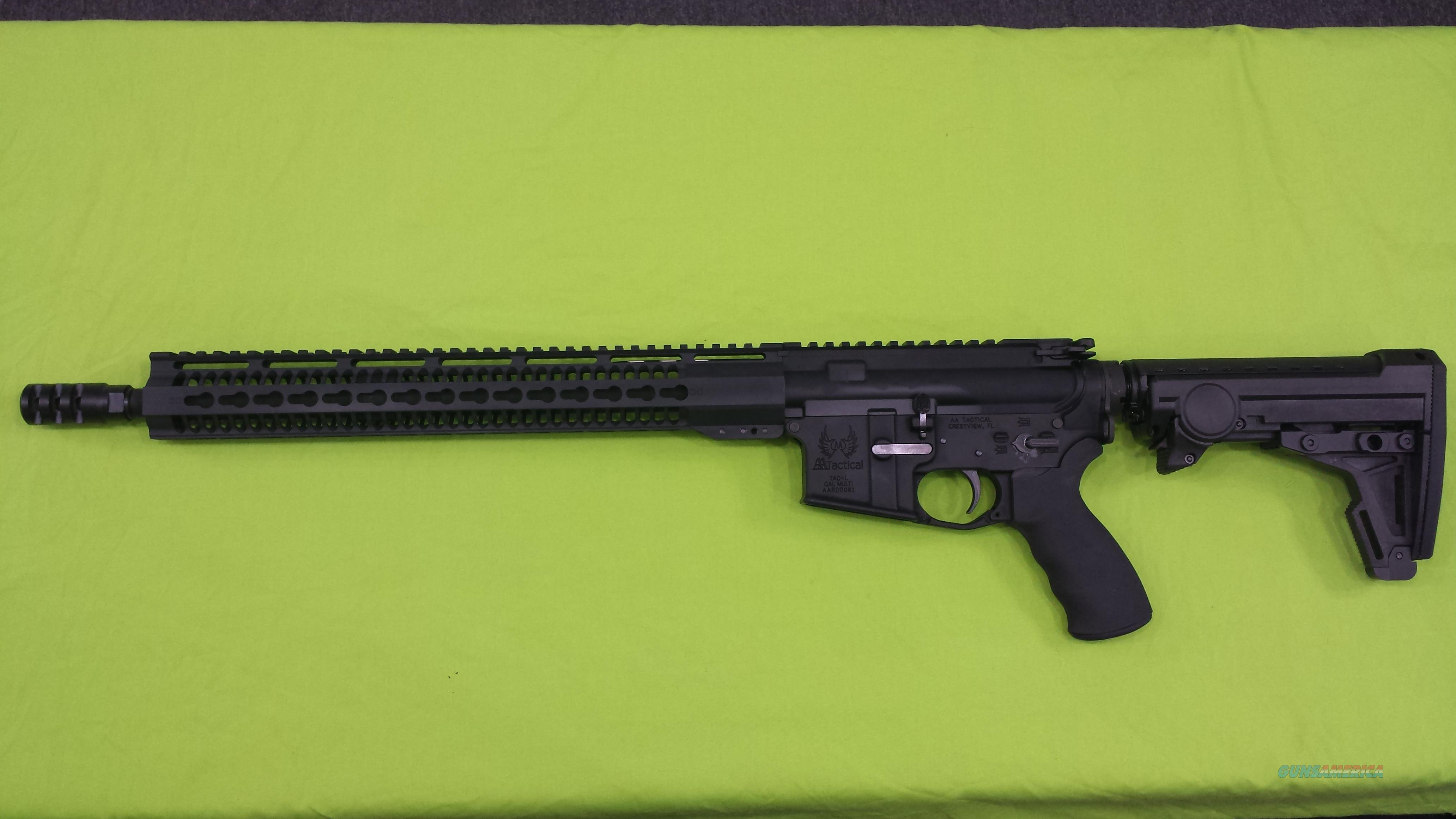 AA TACTICAL TAC-L 5.56 223 ERGO 8 POS BLACK AR15   Guns > Rifles > AR-15 Rifles - Small Manufacturers > Complete Rifle