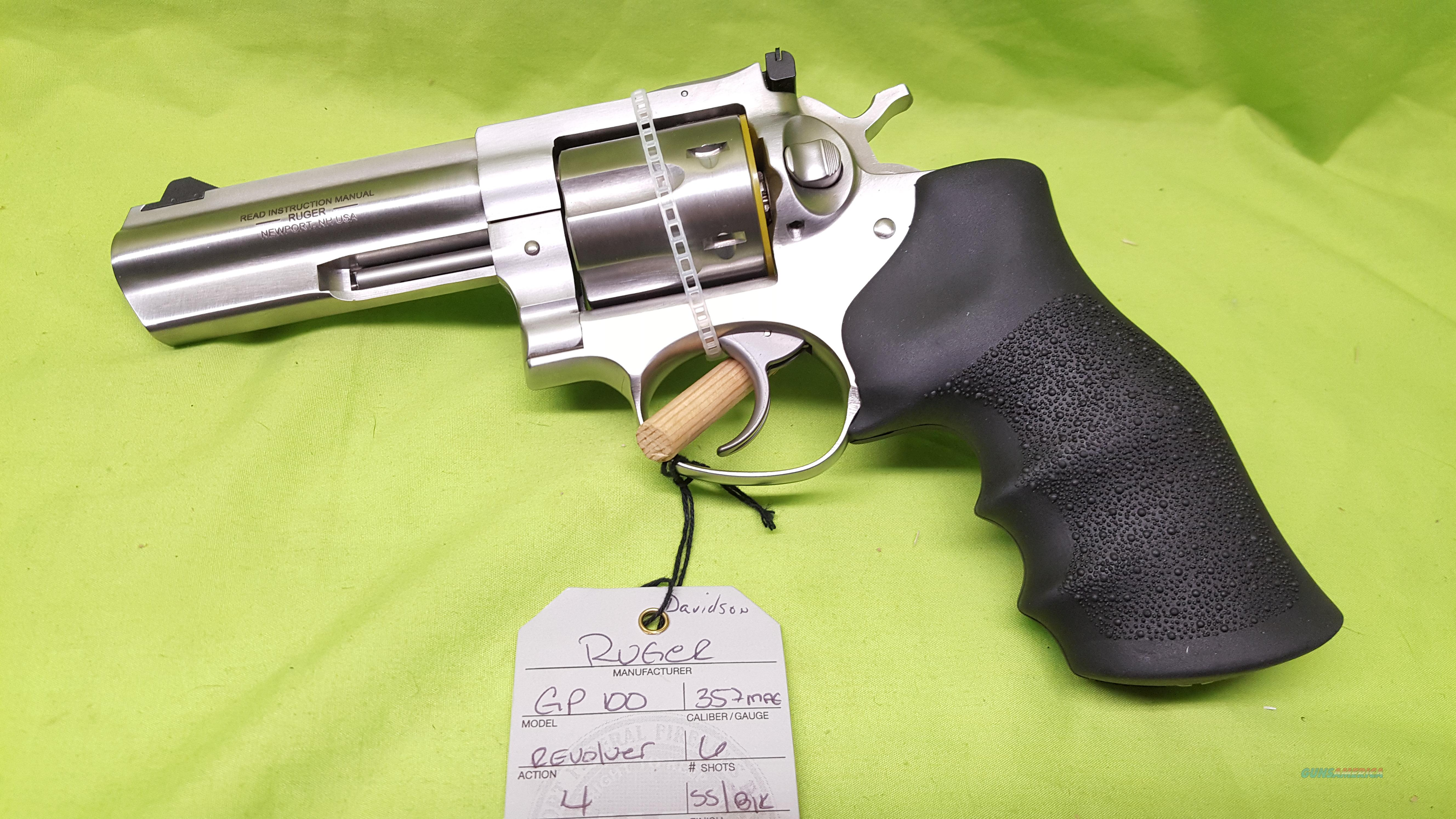 "RUGER GP100 GP 100 357 MAG 4"" REVOLVER STAINLESS  Guns > Pistols > Ruger Double Action Revolver > SP101 Type"