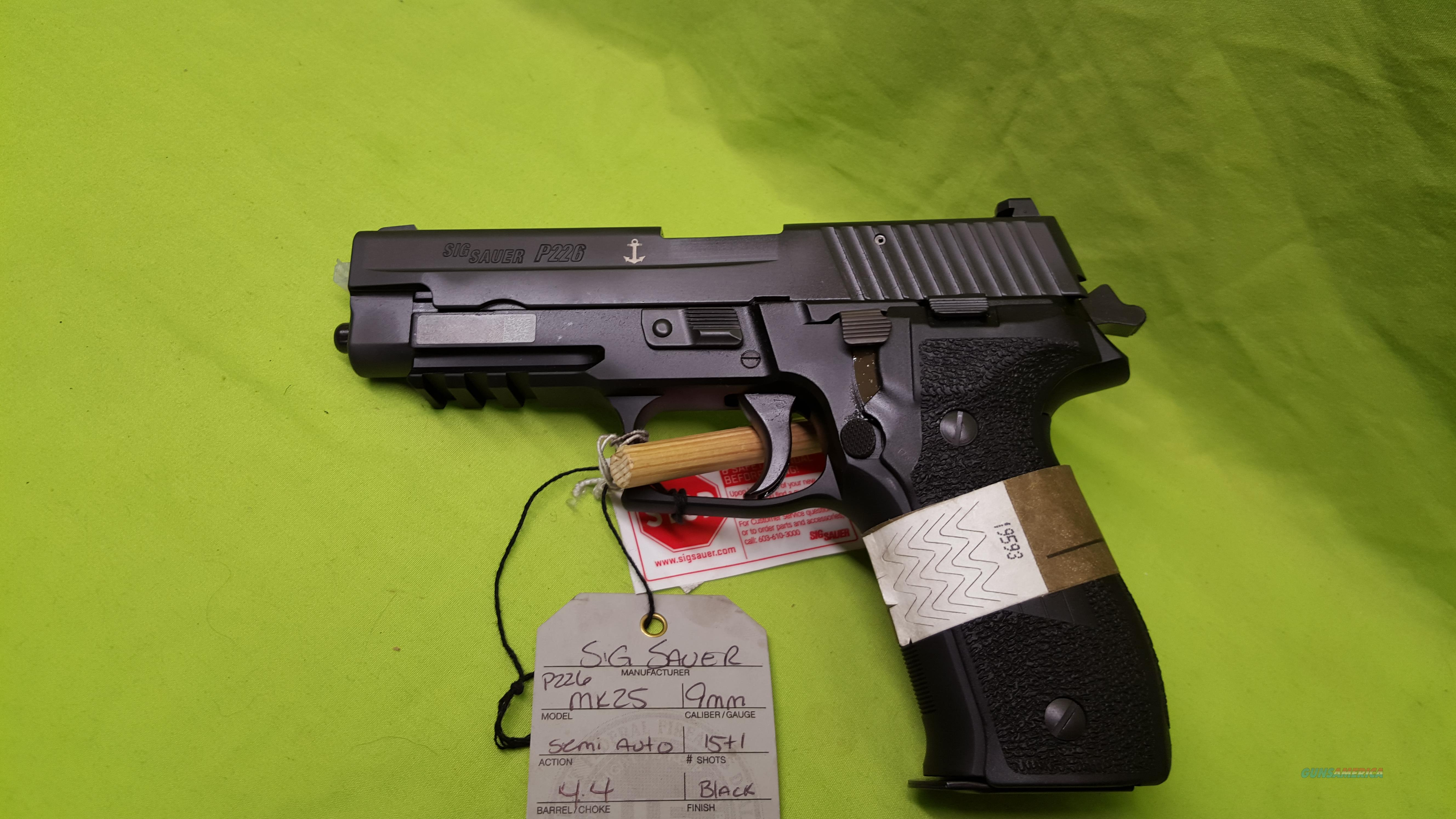 SIG SAUER P226 226 MK25 MK 25 9MM 9 MM 15RD 3MAGS  Guns > Pistols > Sig - Sauer/Sigarms Pistols > P226