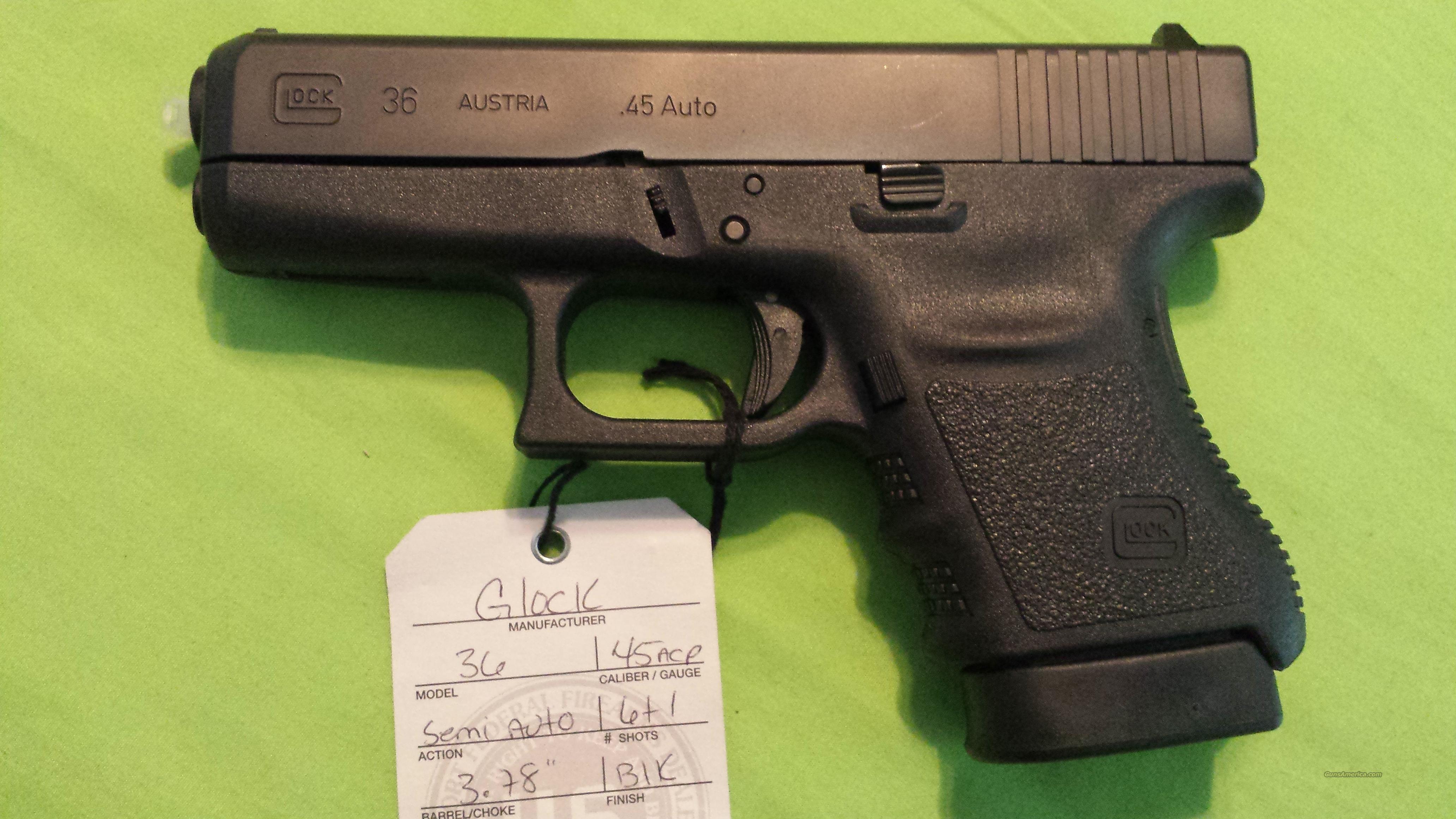GLOCK 36 GEN 3 45ACP .45 SUB COMPACT 6RD SLIM  Guns > Pistols > Glock Pistols > 29/30/36