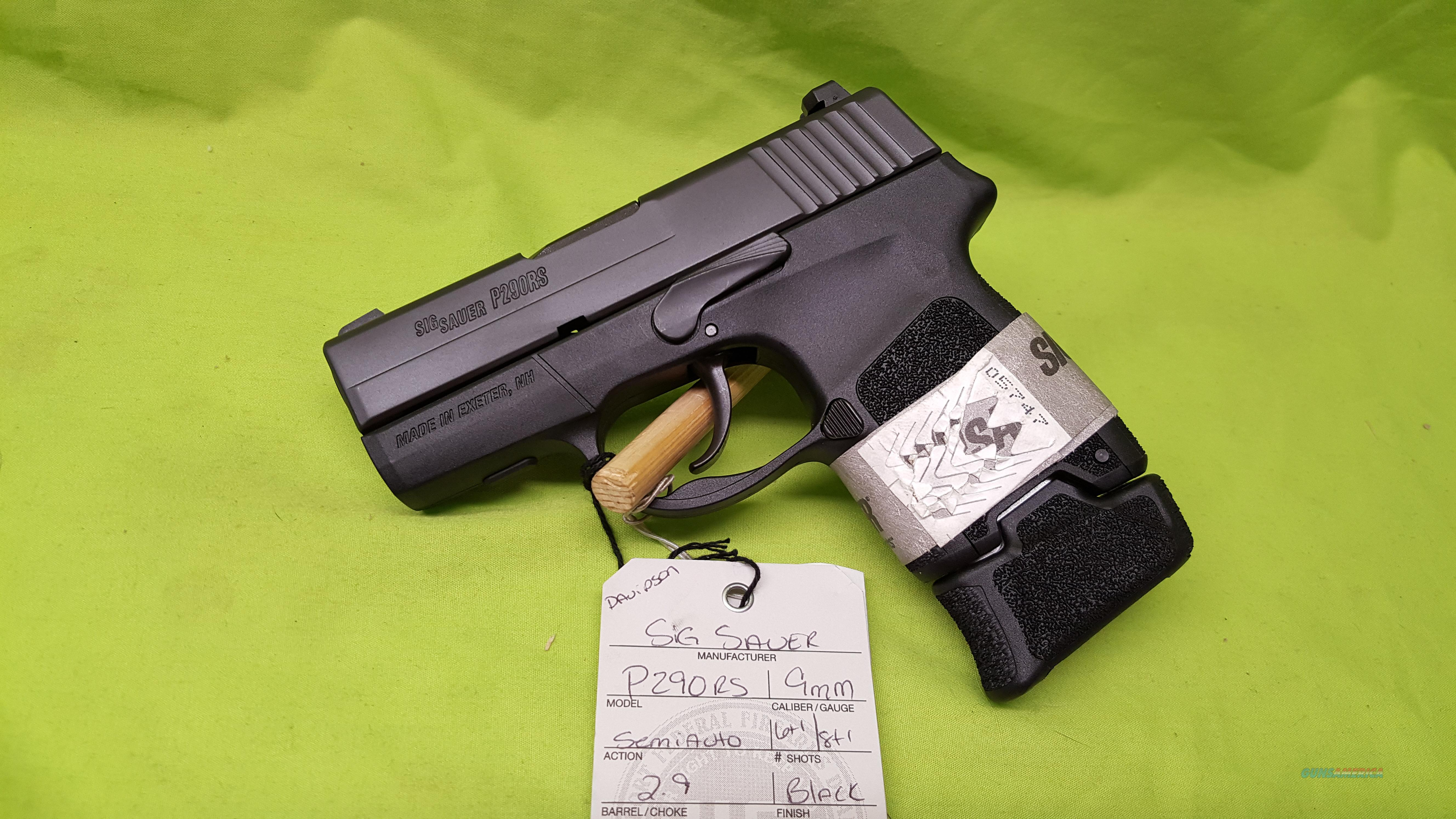 "SIG SAUER P290RS P290 9MM 6/8RD 2.9"" BLACK  Guns > Pistols > Sig - Sauer/Sigarms Pistols > P290"