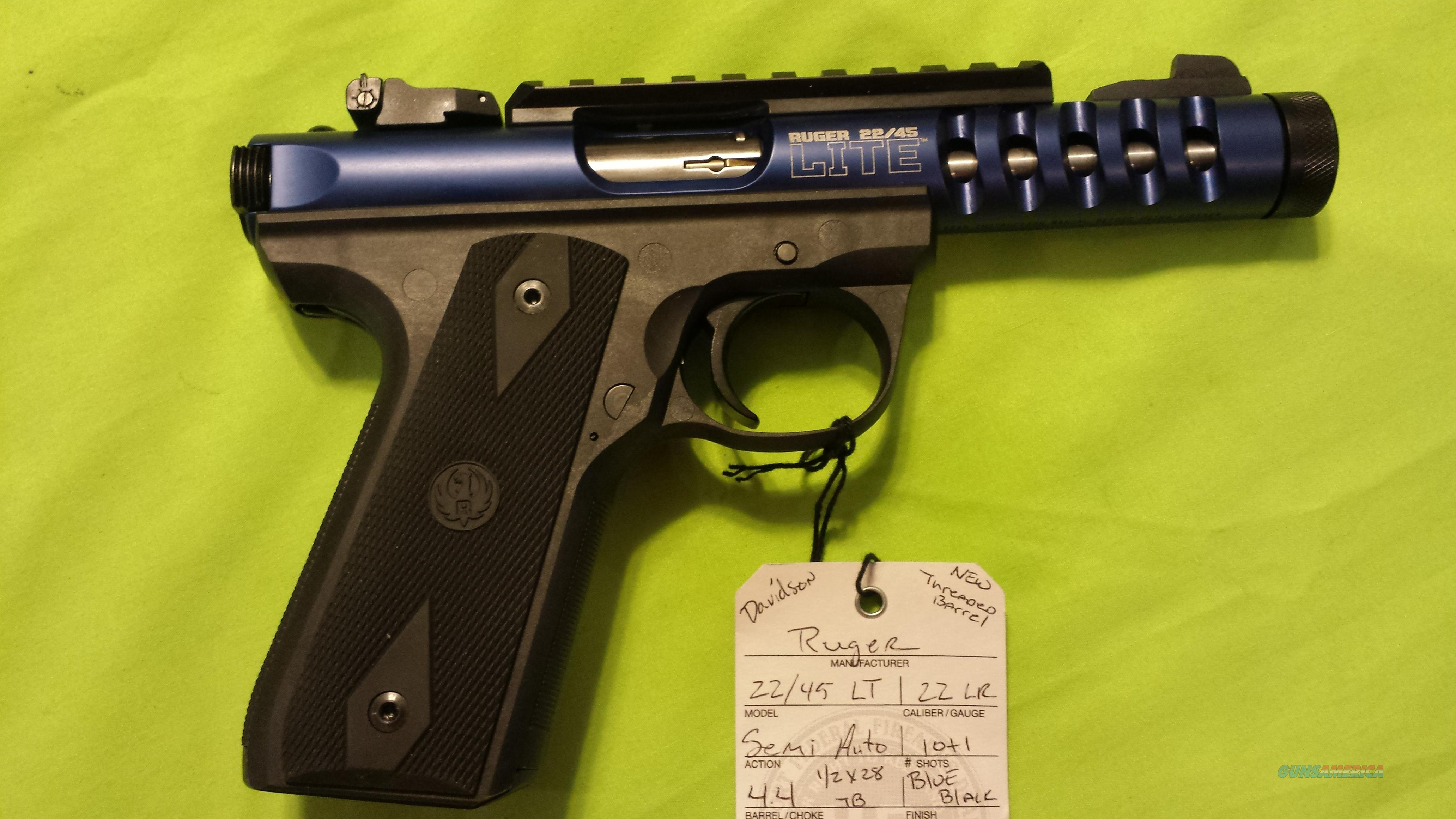 Ruger 22 45 Lt 22 45 Lite 22lr 4 5 Blue Threade For Sale