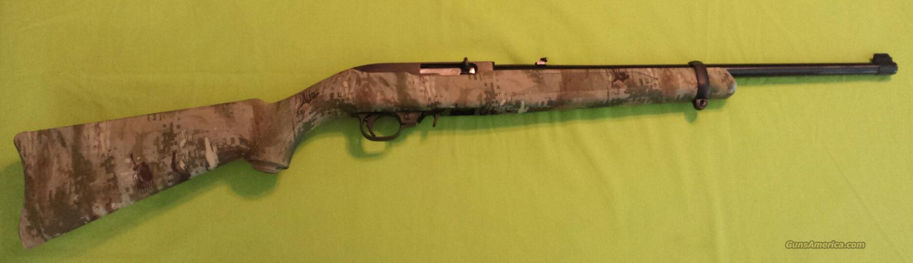 Ruger 10 22 carbine 22lr 22 lr blued wolf camo guns gt rifles gt ruger