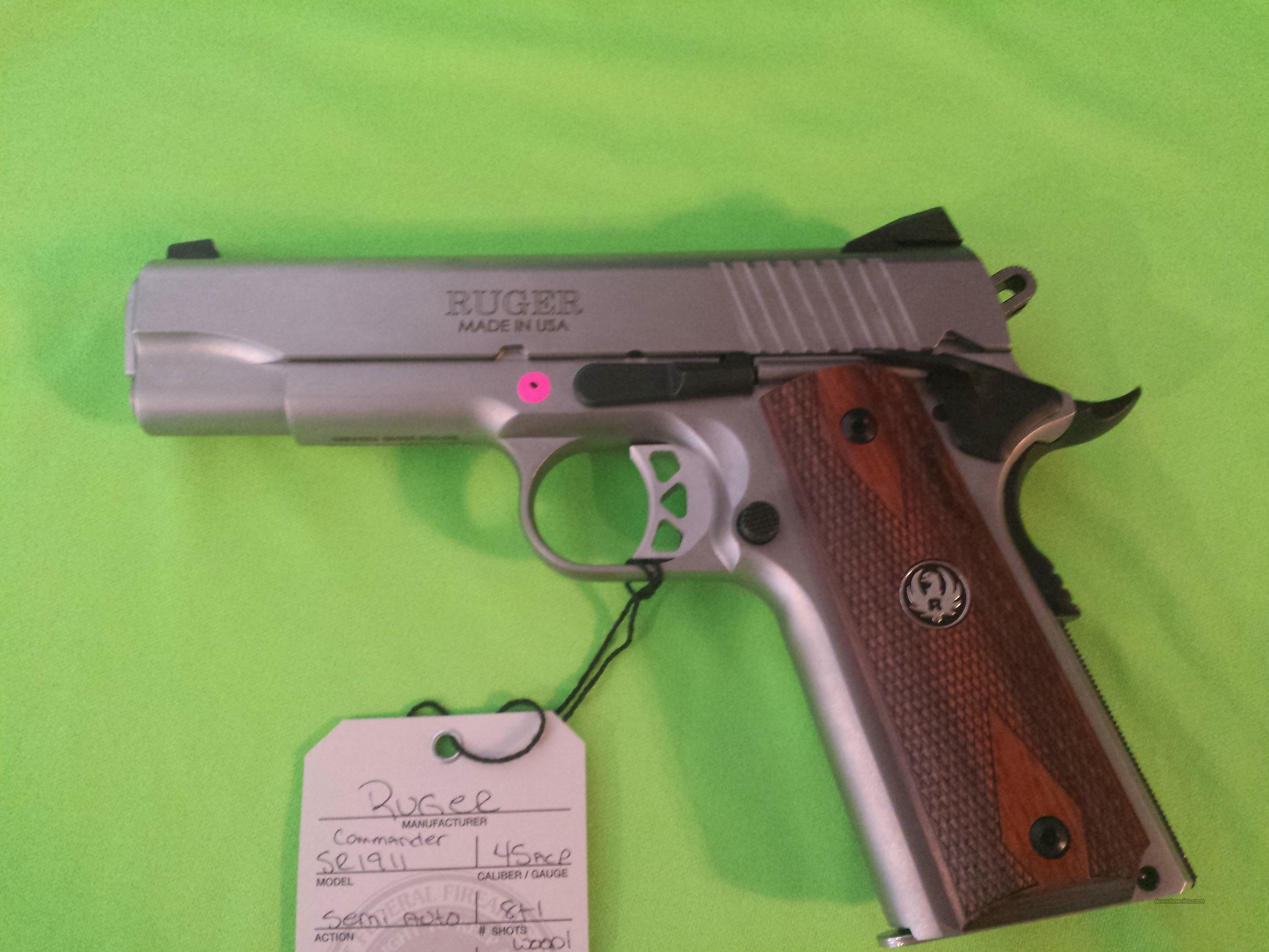 RUGER SR1911 COMMANDER CMD 45 ACP 4.25 STAINLESS 6702  Guns > Pistols > Ruger Semi-Auto Pistols > 1911