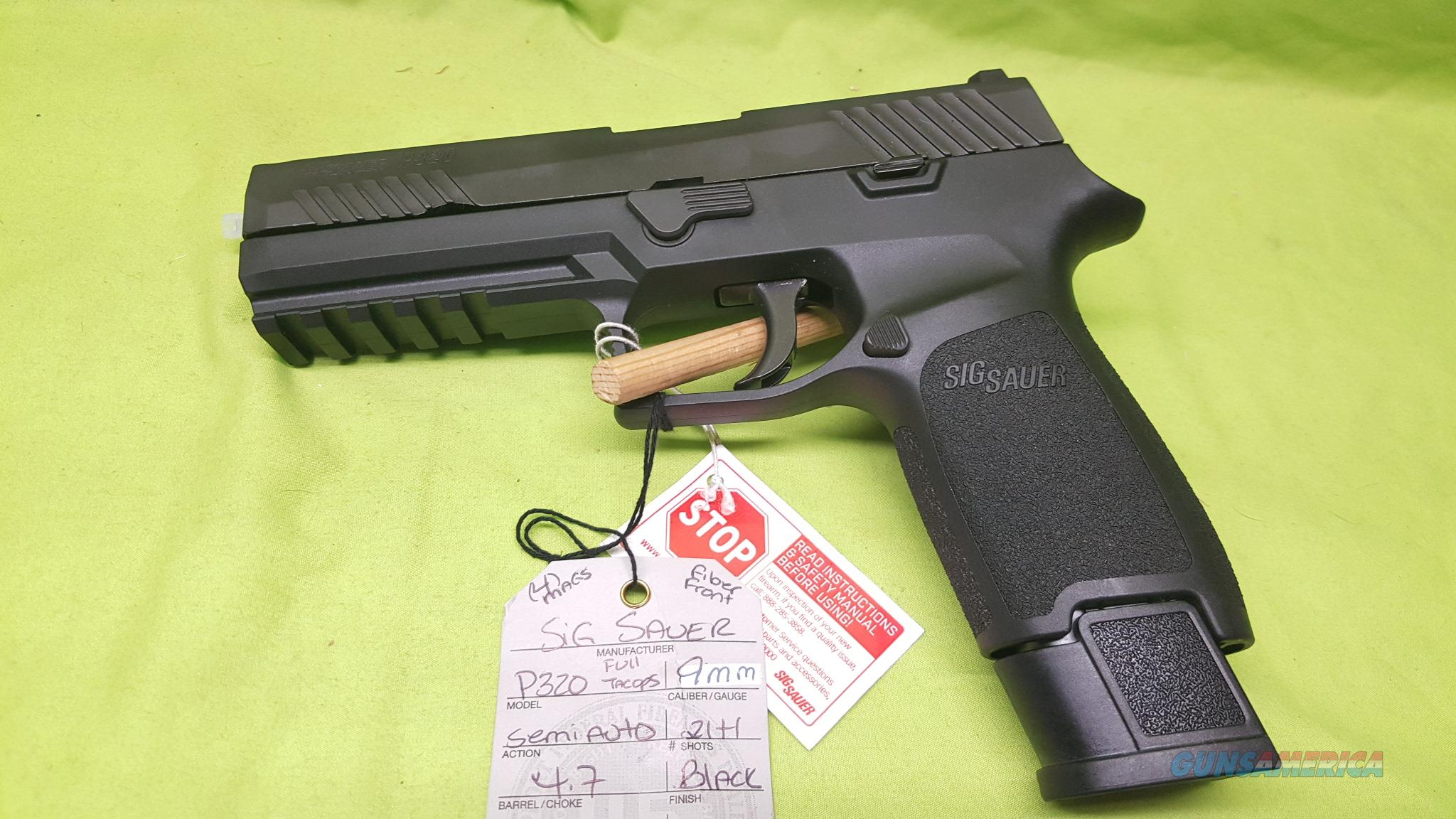 SIG SAUER P320 P 320 FULL TACOPS 9MM 9 MM 21+1  Guns > Pistols > Sig - Sauer/Sigarms Pistols > Other