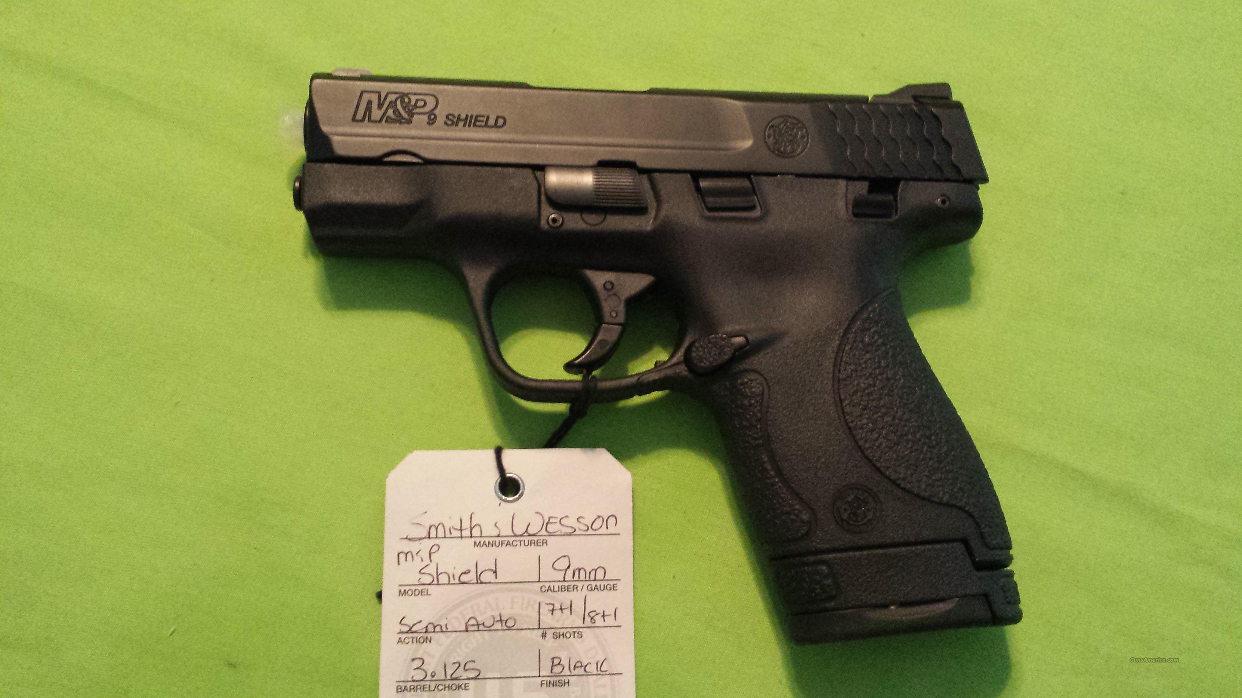 SMITH & WESSON M&P 9 SHIELD 9MM 7/8RD BLK...NIB  Guns > Pistols > Smith & Wesson Pistols - Autos > Shield