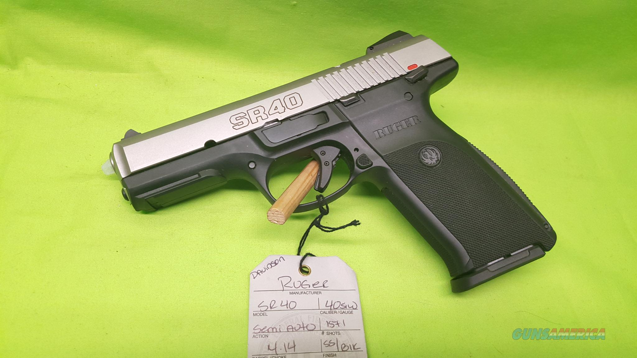 Ruger SR40 Stainless 40 S&W .40 2-15RD MAGS 3470  Guns > Pistols > Ruger Semi-Auto Pistols > SR Family