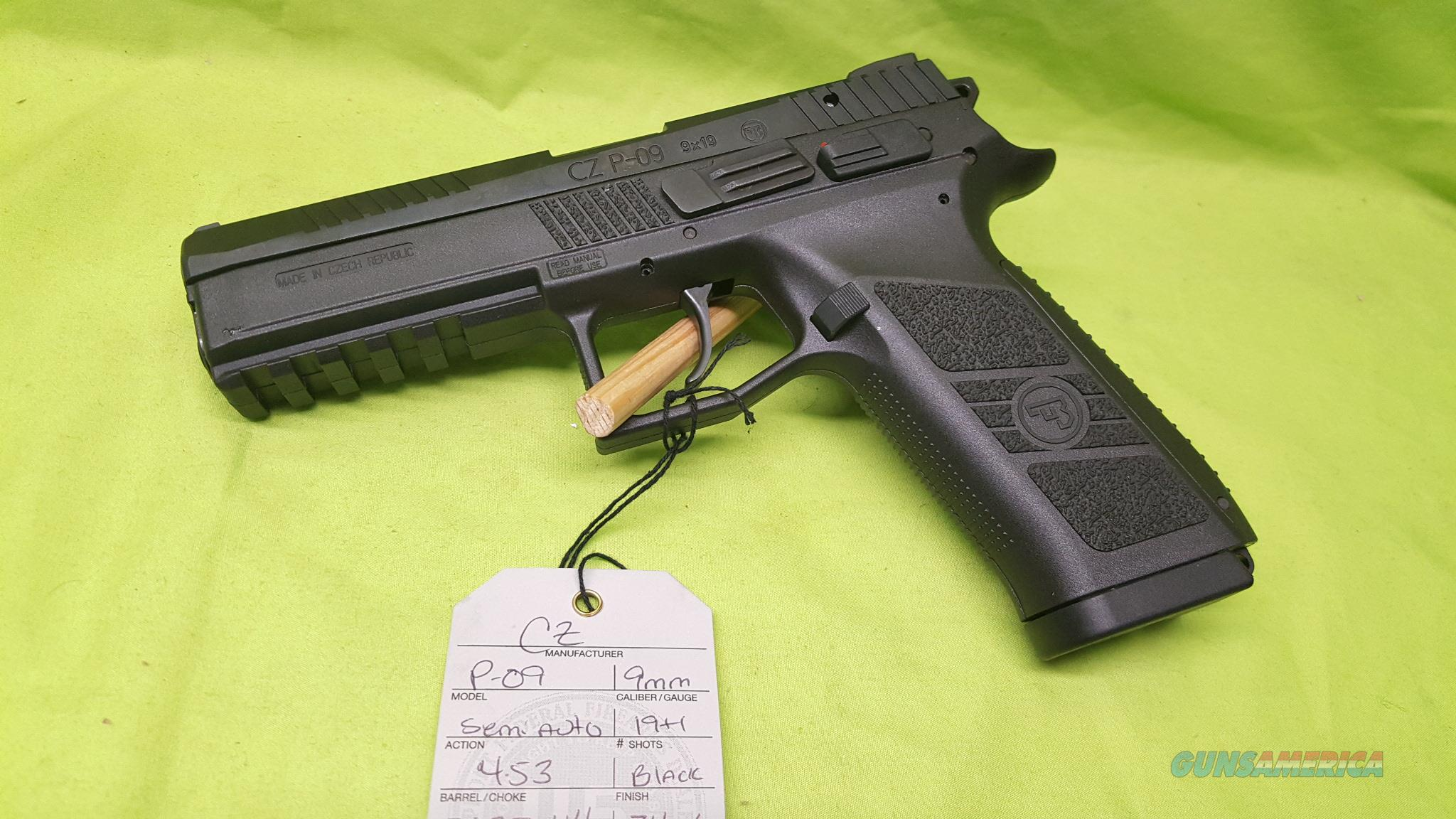CZ P 09 P09 DUTY 9MM 4.53 9 MM BLK 2-19RD 91620  Guns > Pistols > CZ Pistols