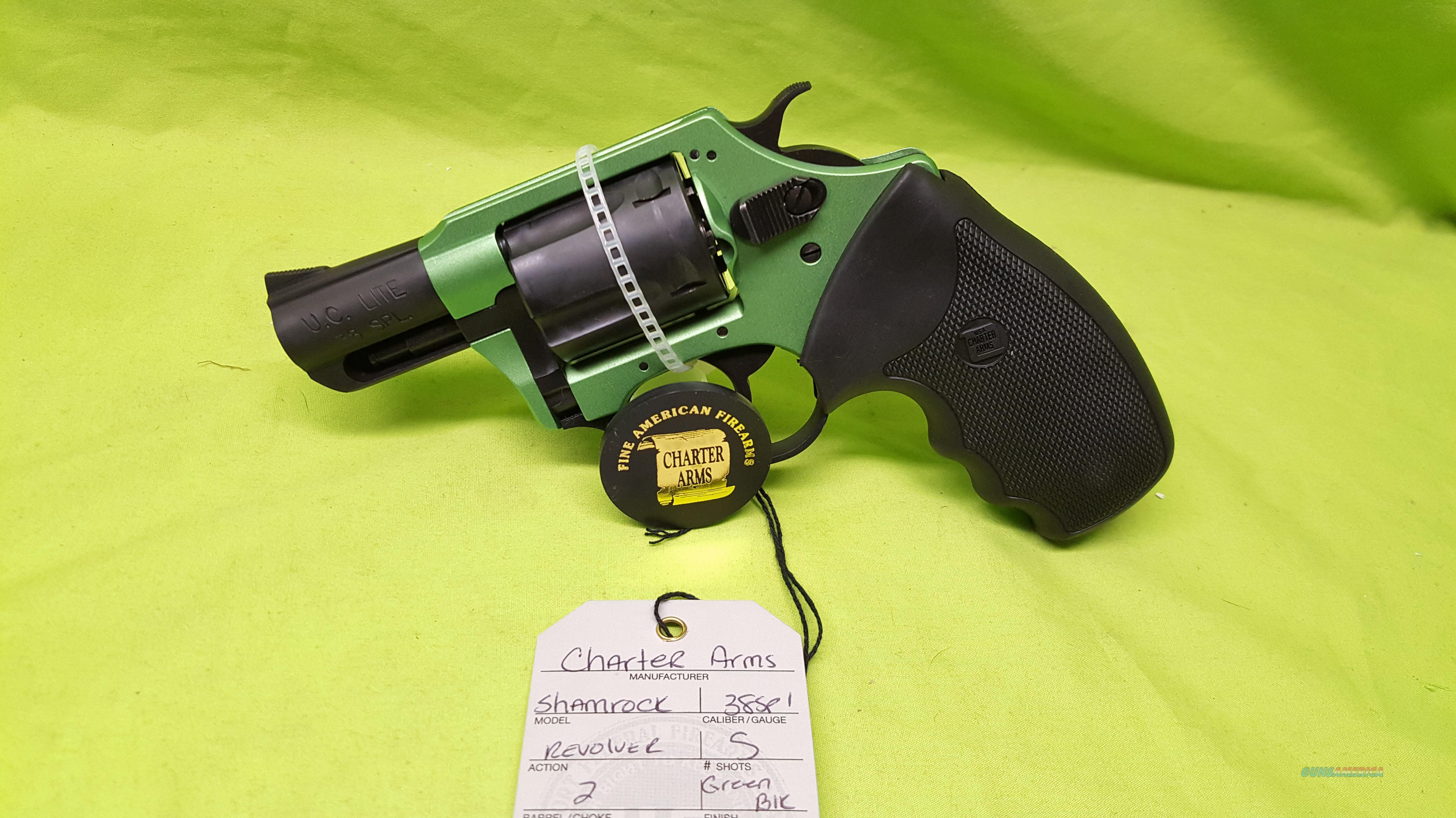 CHARTER ARMS UNDERCOVER SHAMROCK 38SPL 38 GREEN BLACK  Guns > Pistols > Charter Arms Revolvers