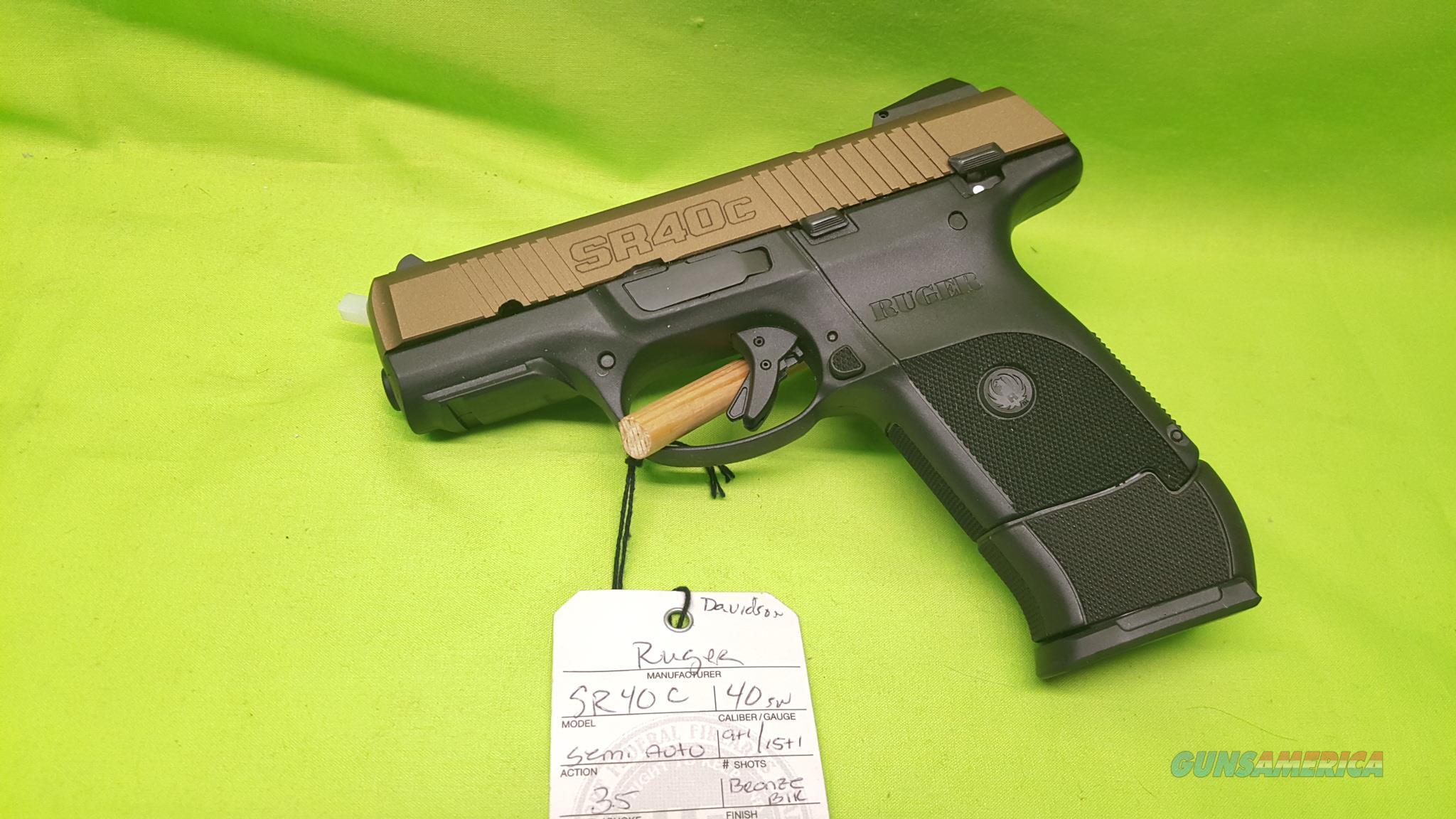 Ruger SR40C SR 40 C S&W 40S&W 9/15 BRONZE BLK 3483  Guns > Pistols > Ruger Semi-Auto Pistols > SR Family > SR40C