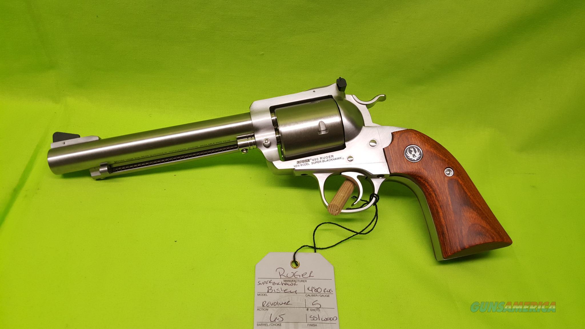 """RUGER BISLEY 480RUGER 480 SS 6.5"""" BLACKHAWK 0870  Guns > Pistols > Ruger Single Action Revolvers > Blackhawk Type"""