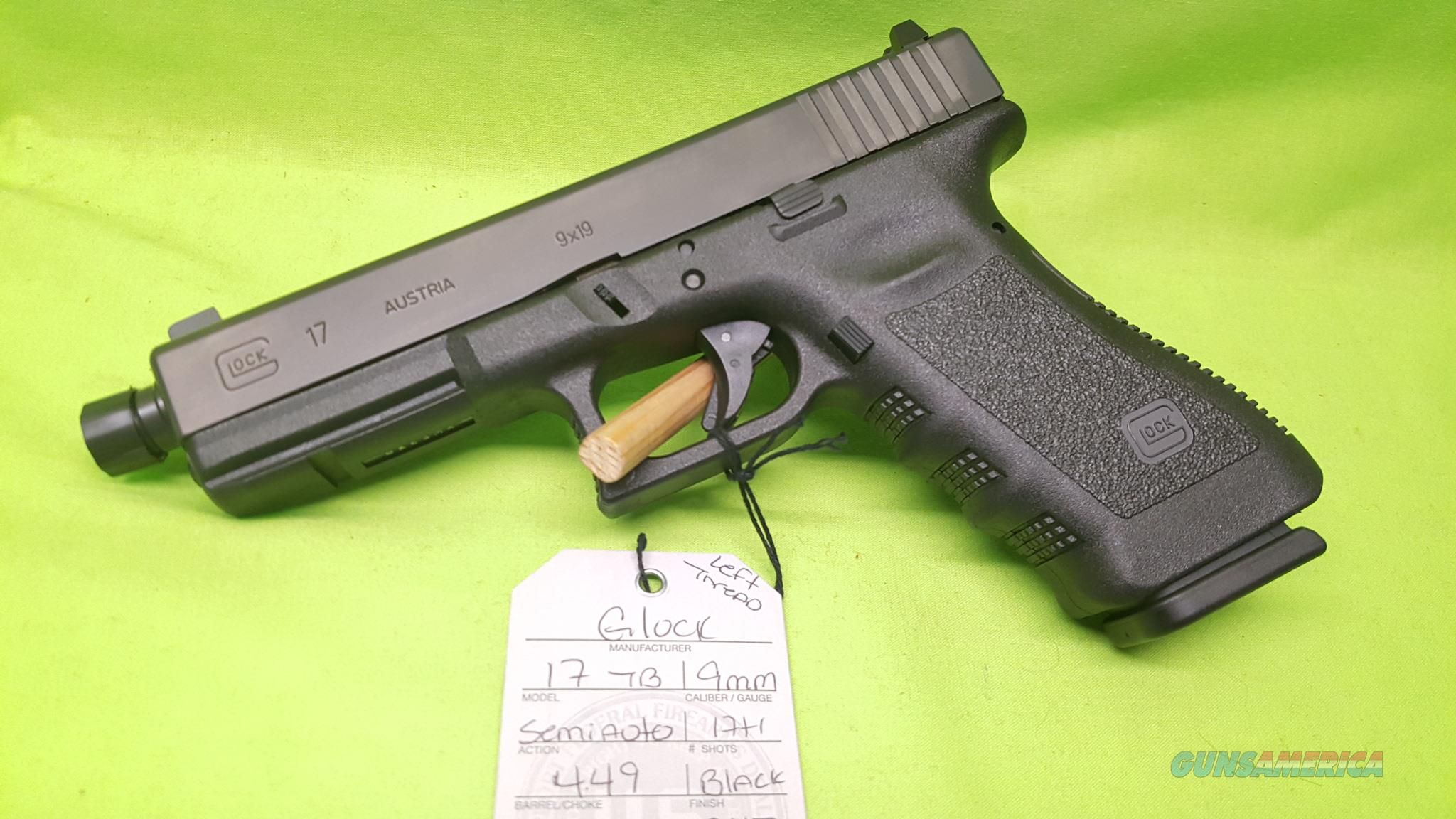 GLOCK 17 GEN 3 TB 9MM FACTORY THREADED BARREL 17RD  Guns > Pistols > Glock Pistols > 17