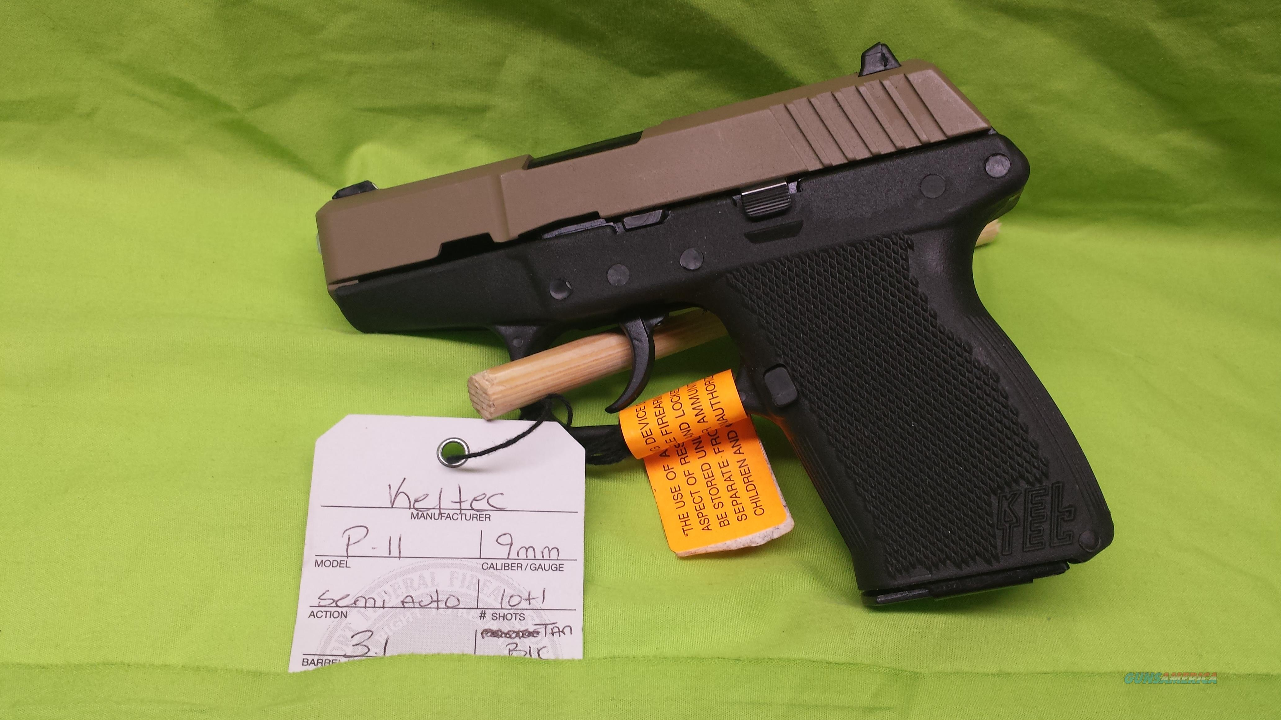 "KEL-TEC P-11 9MM 3.1"" TAN / BLACK 10RD NIB  Guns > Pistols > Kel-Tec Pistols > Pocket Pistol Type"