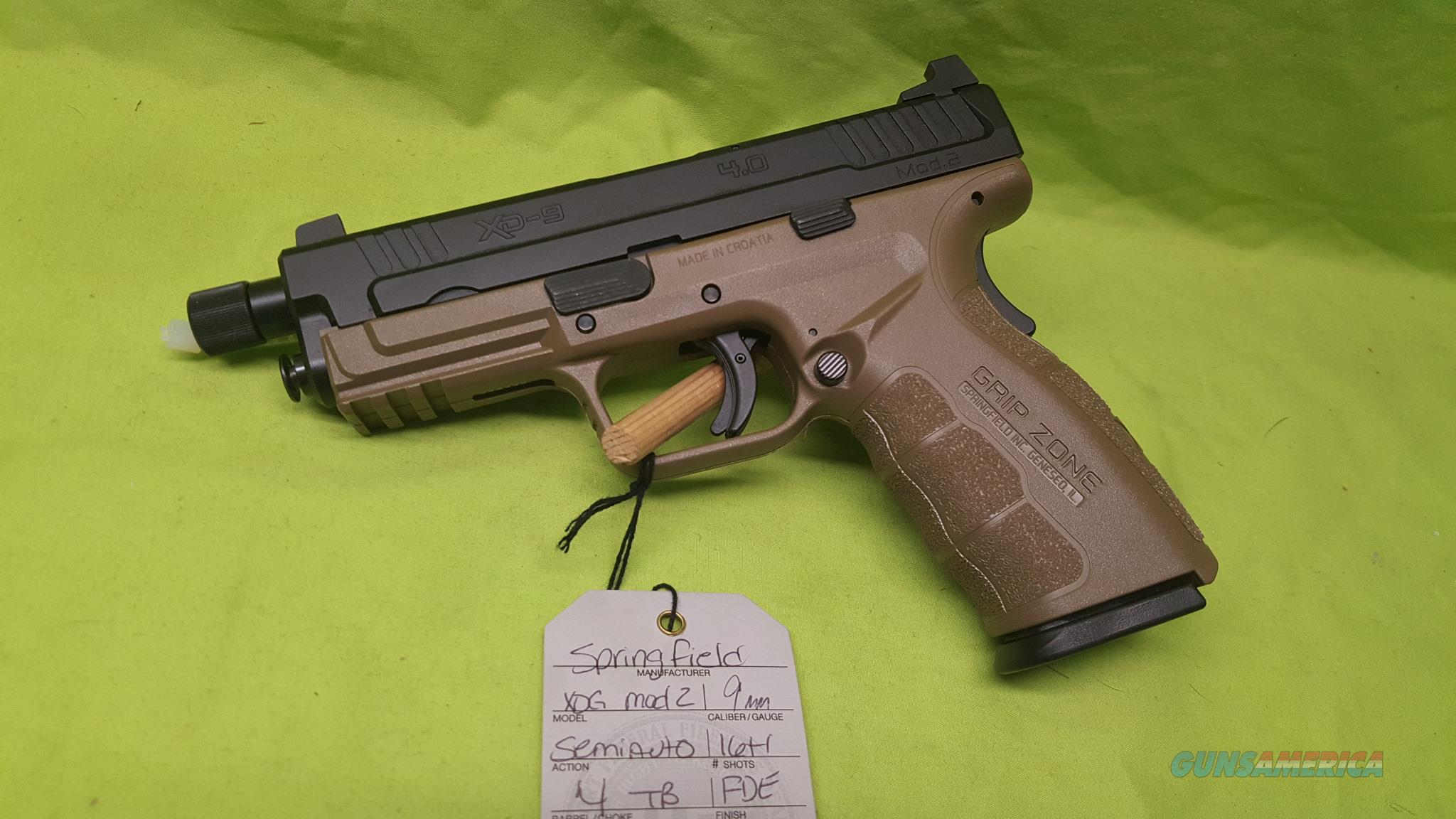 "SPRINGFIELD XD XDG MOD 2 9MM 4"" FDE 16RD THREADED  Guns > Pistols > Springfield Armory Pistols > XD (eXtreme Duty)"