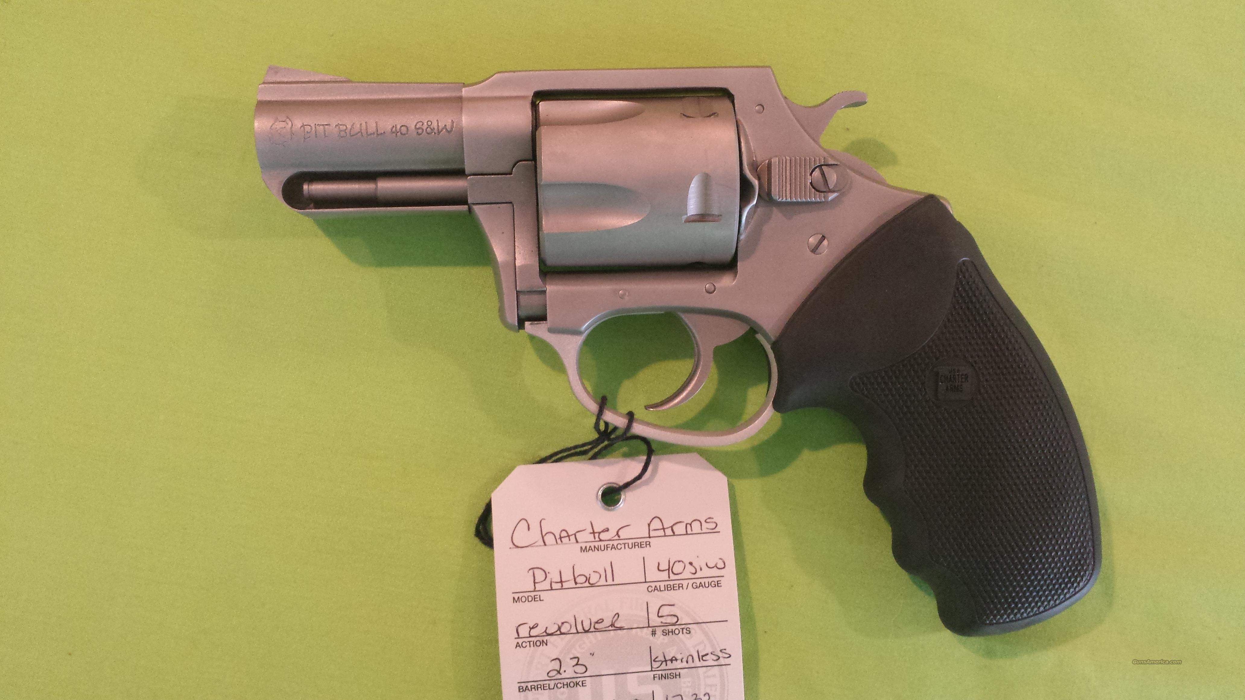 CHARTER ARMS PITBULL 40 40SW REVOLVER STAINLESS  Guns > Pistols > Charter Arms Revolvers