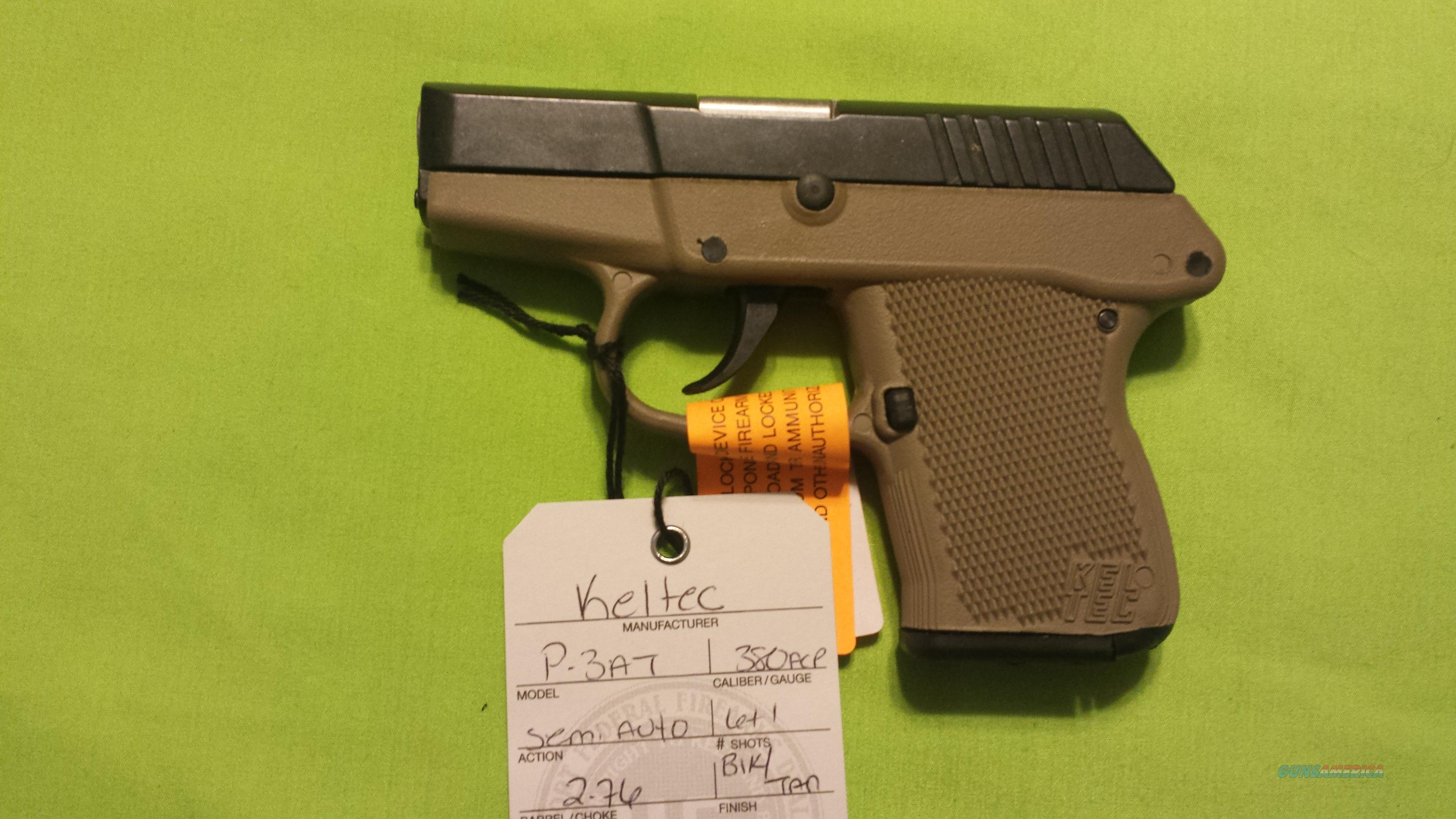 KEL TEC P-3AT P3AT 380 .380 DAO 6RD BLACK / TAN   Guns > Pistols > Kel-Tec Pistols > Pocket Pistol Type