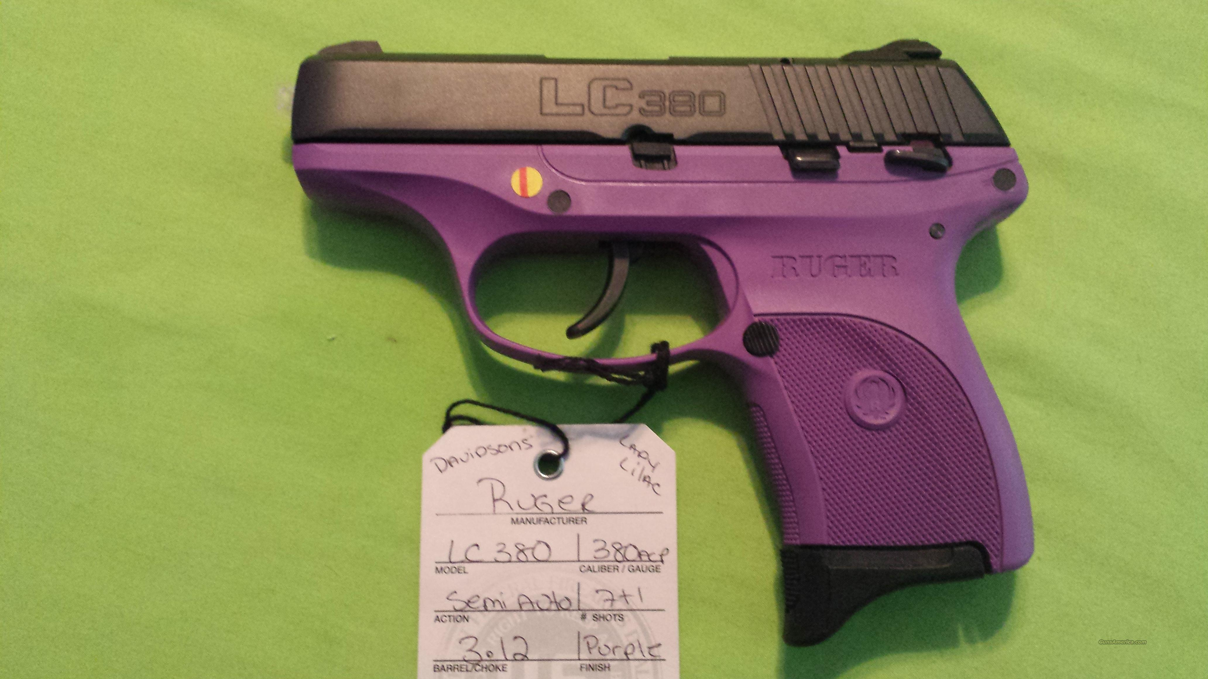 RUGER LC380 LC 380 .380ACP 7RD LADY LILAC PURPLE  Guns > Pistols > Ruger Semi-Auto Pistols > LC9