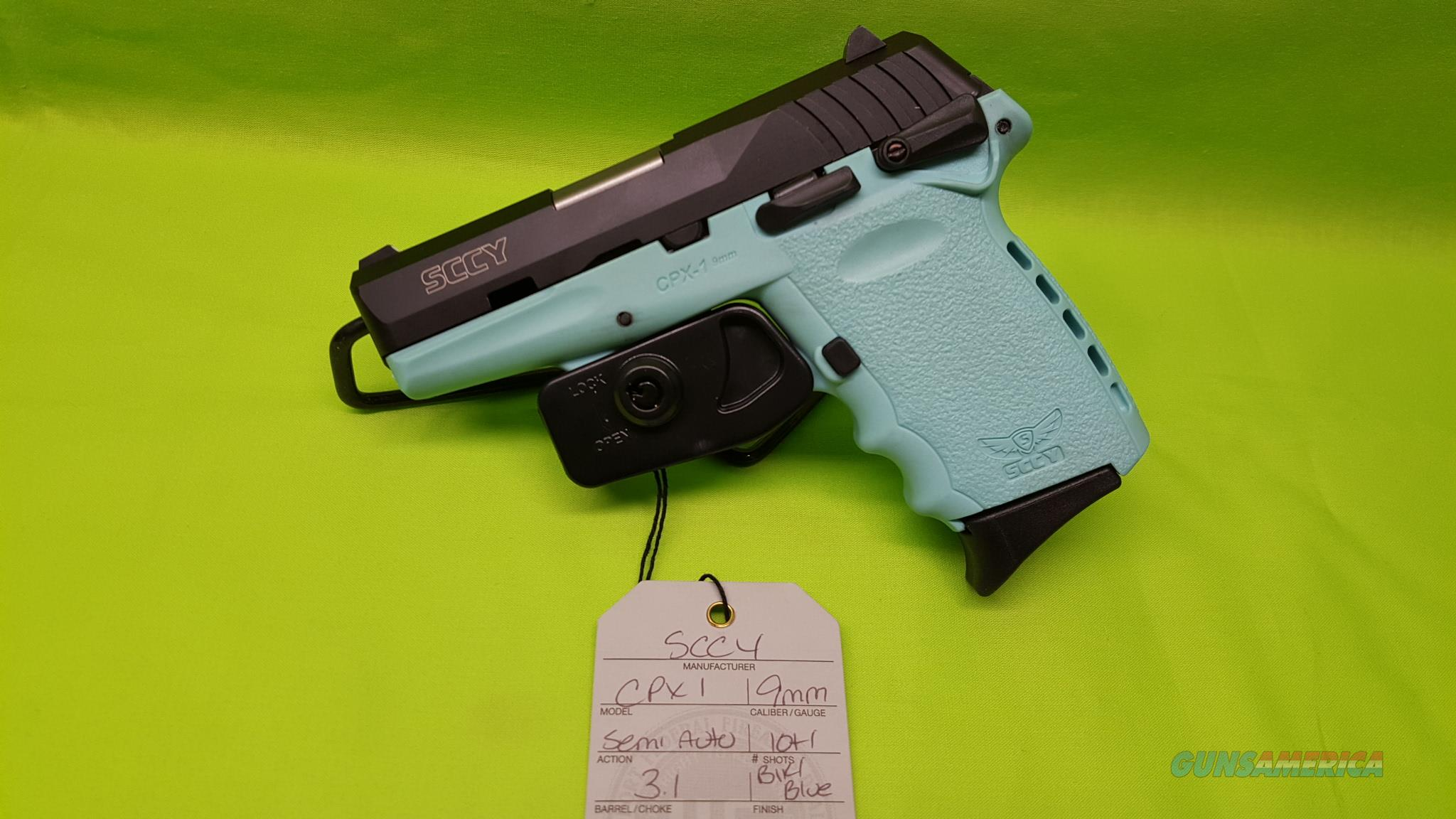 SCCY CPX-1 CPX 1 CPX1 9 9MM 10RD BLK/ BLUE TEAL  Guns > Pistols > SCCY Pistols > CPX1