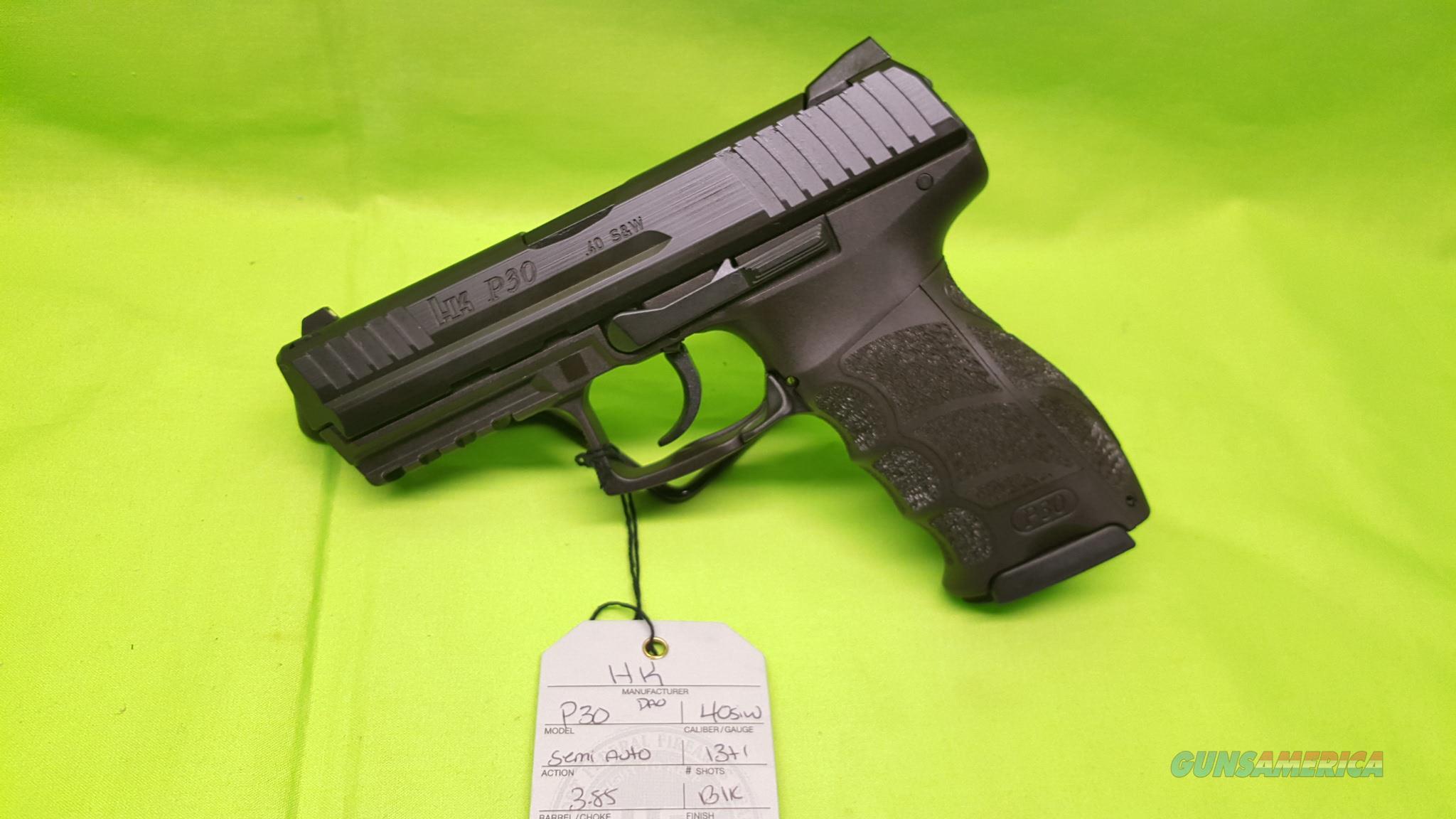 HK P30 P 30 V1 40 S&W 40SW DAO LIGHT  Guns > Pistols > Heckler & Koch Pistols > Polymer Frame