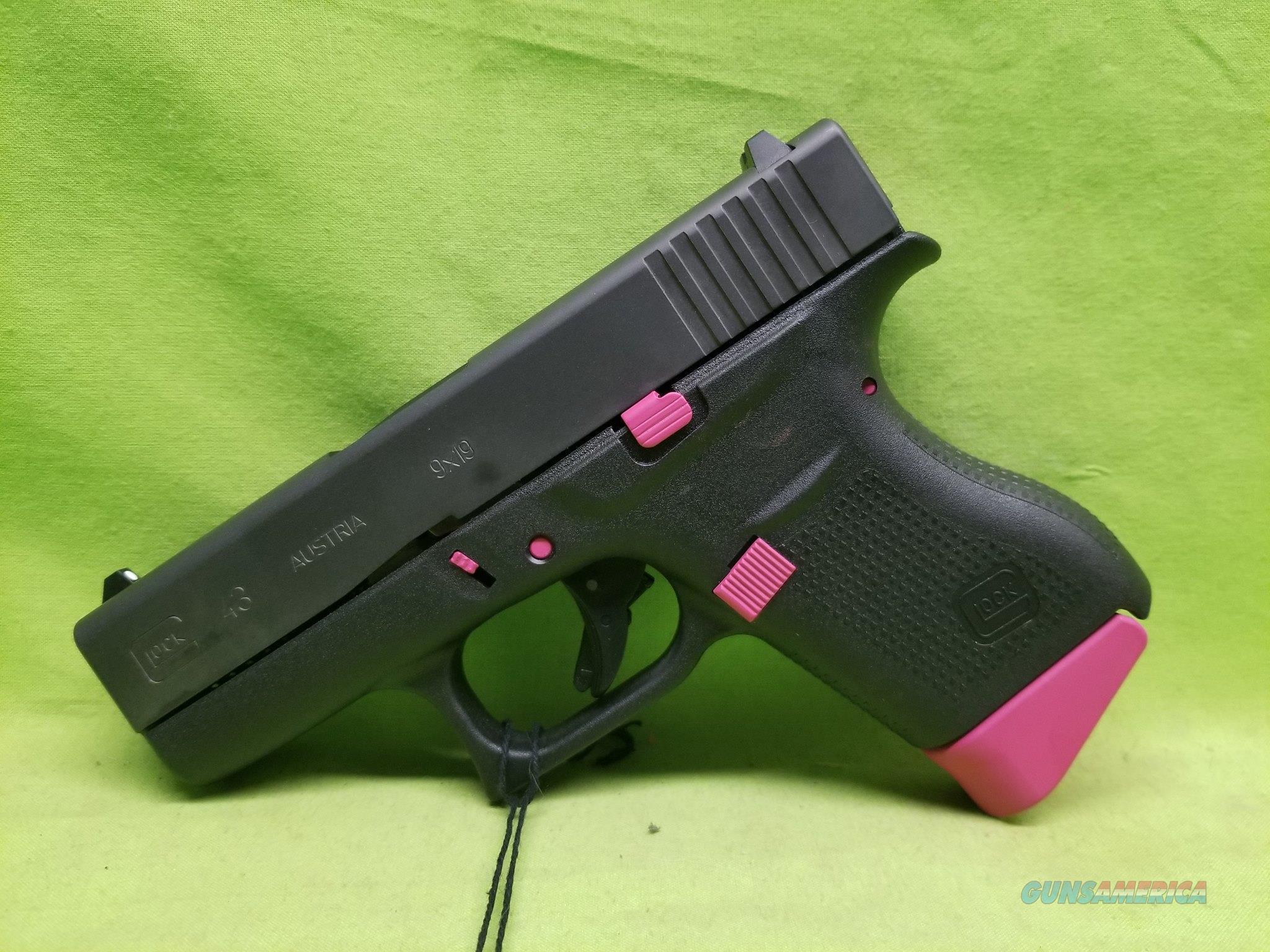 """GLOCK 43 9 9MM 6RD 3.39"""" SIG PINK CUSTOM CERAKOTE  Guns > Pistols > Glock Pistols > 42"""