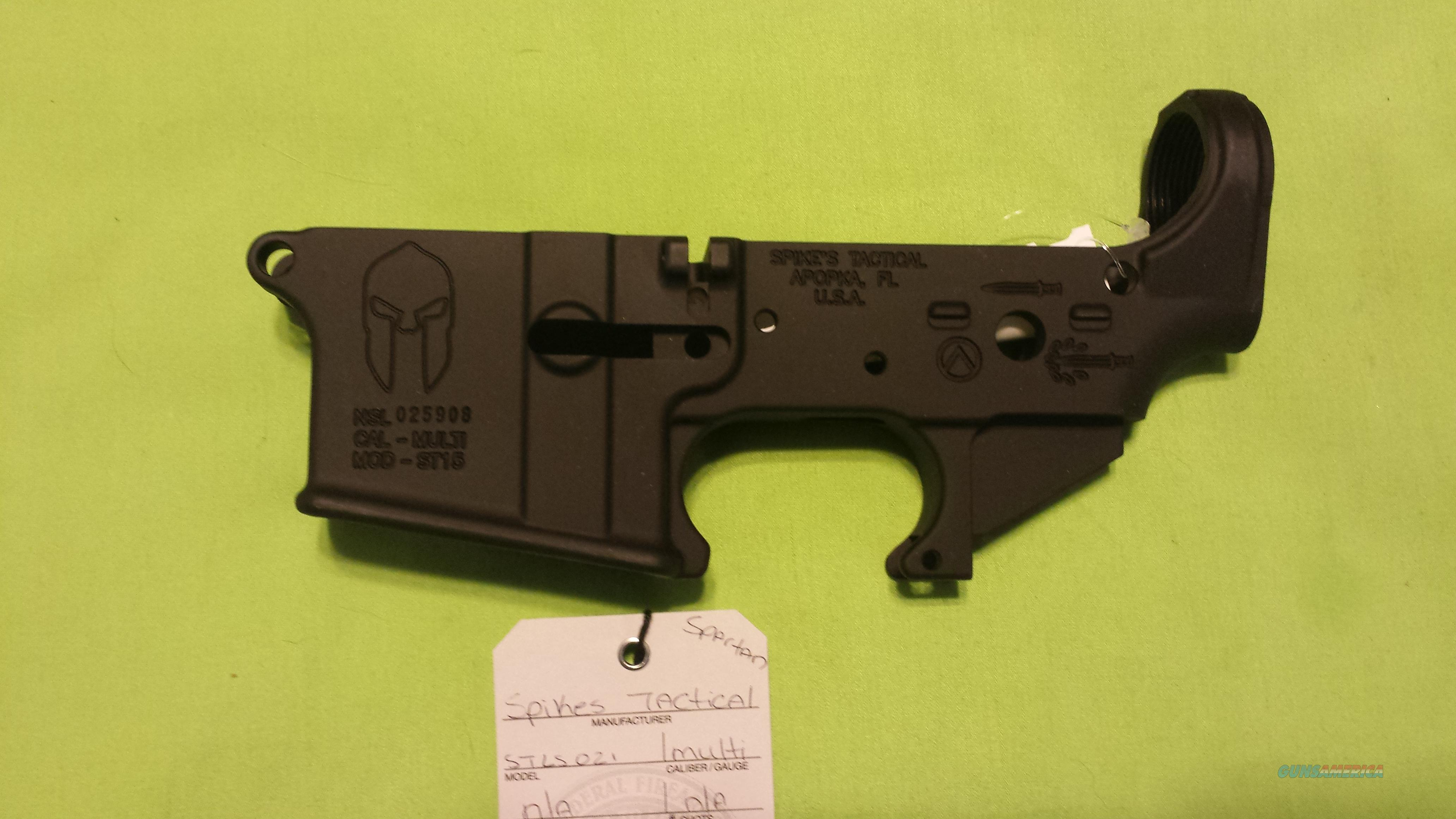 SPIKES STRIPPED LOWER SPARTAN AR 15 5.56 .223 MULTI  Guns > Rifles > AR-15 Rifles - Small Manufacturers > Lower Only