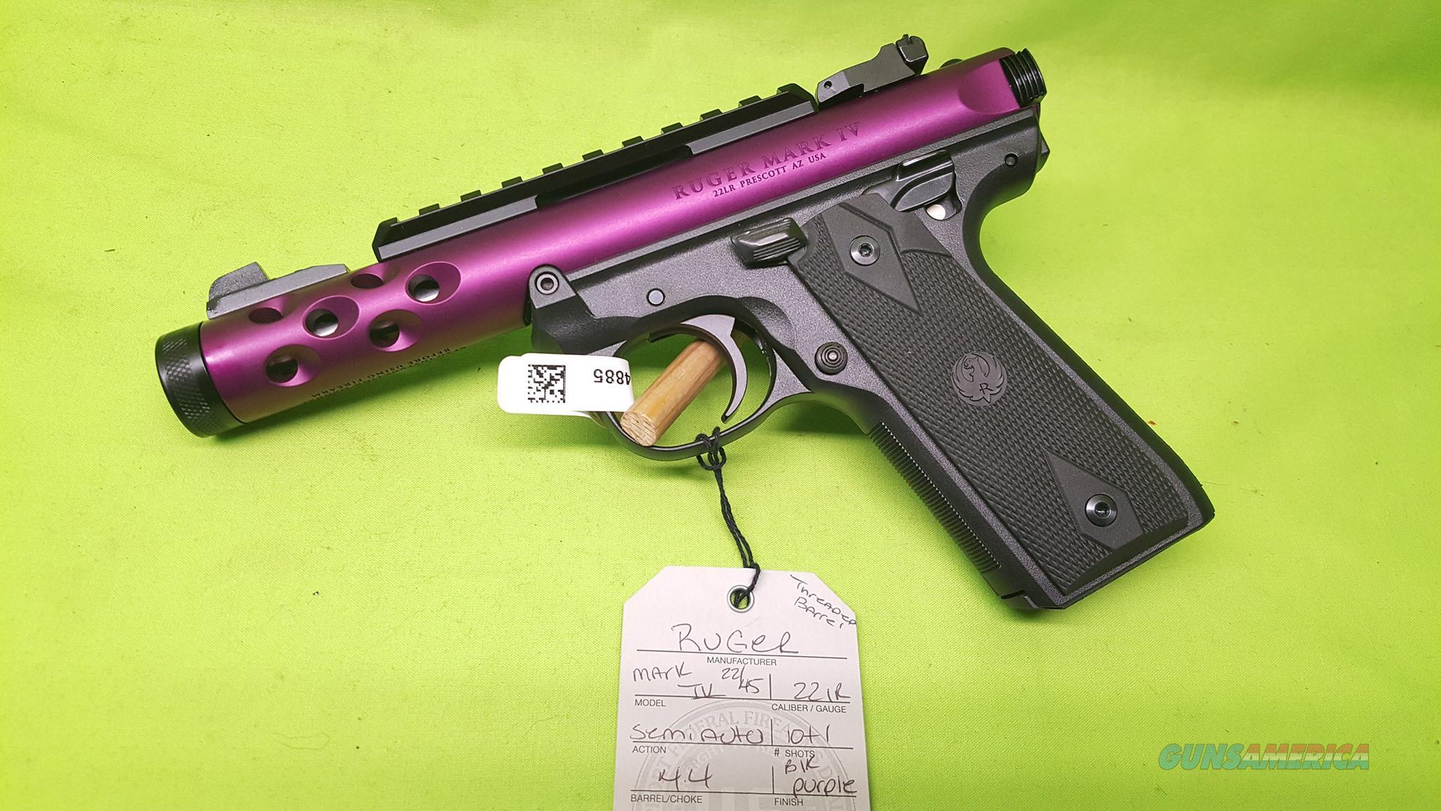 RUGER MARK IV 22 45 22/45 LITE 22LR PURPLE 43915   Guns > Pistols > Ruger Semi-Auto Pistols > 22/45