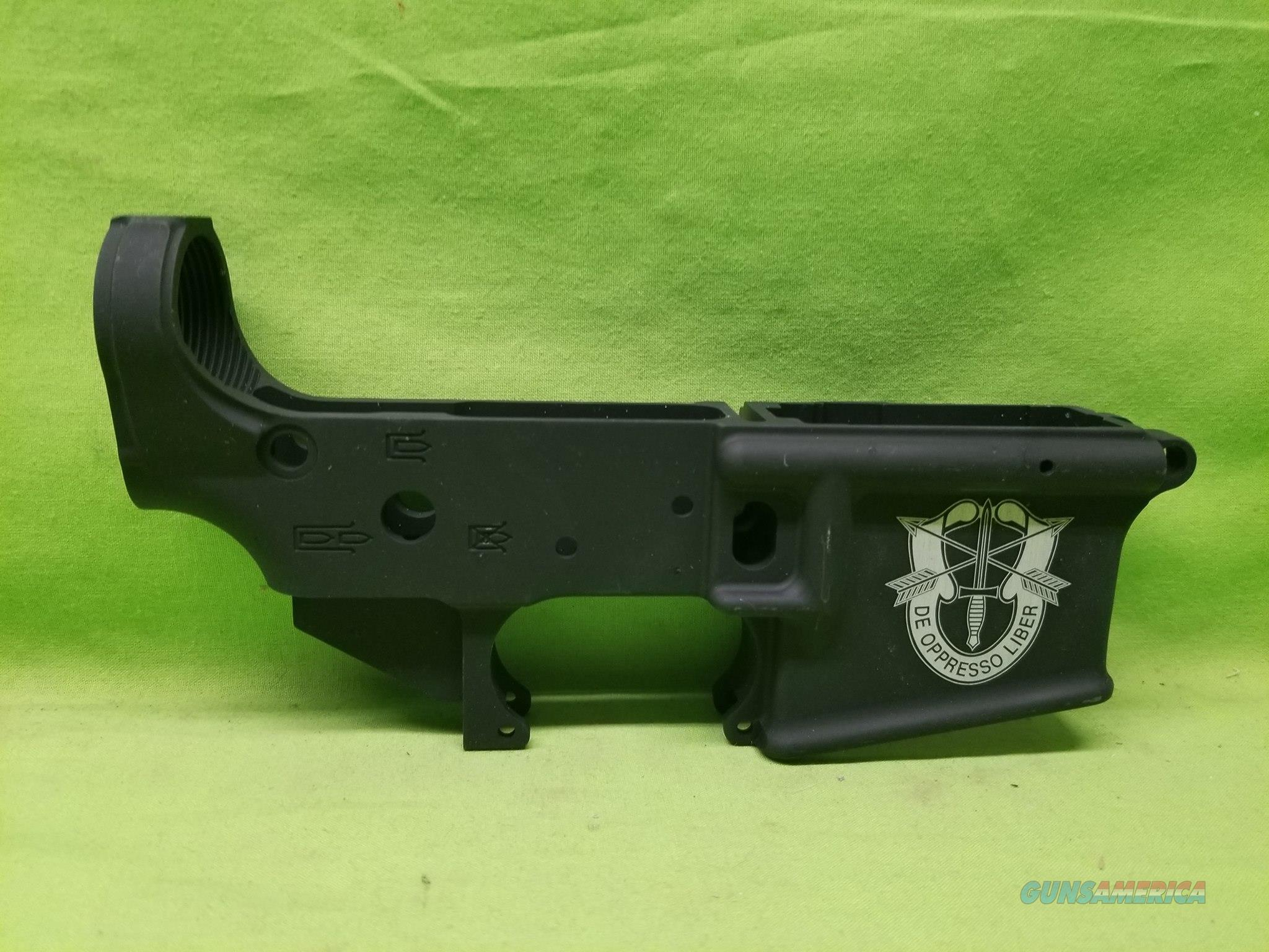 AA TACTICAL TAC-L WING STRIPPED LOWER SF CREST SPECIAL FORCES  Guns > Rifles > AR-15 Rifles - Small Manufacturers > Lower Only