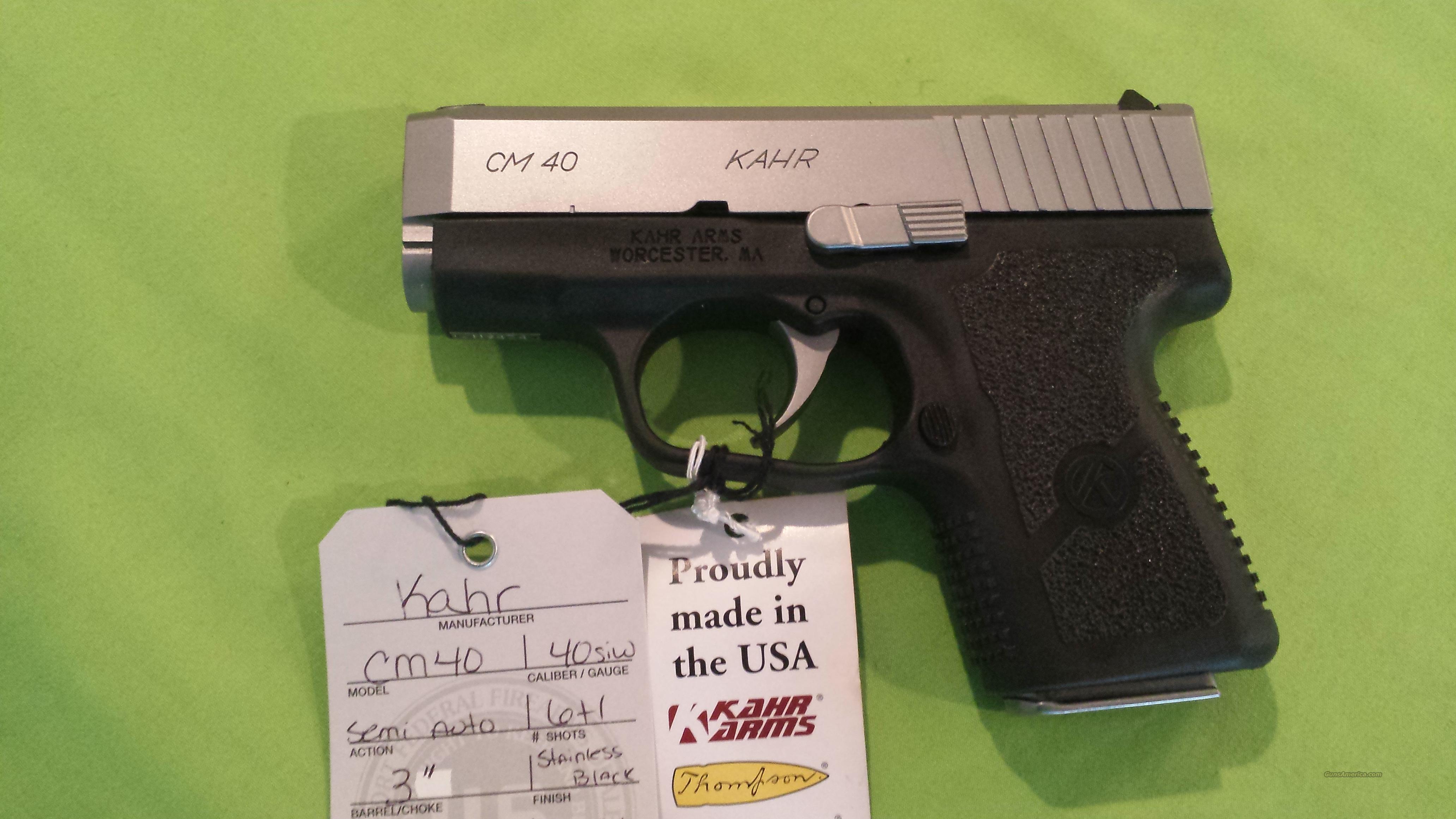 KAHR CM40 CM 40 40S&W 3.5 6RD DUO TONE POLY 1 MAG  Guns > Pistols > Kahr Pistols
